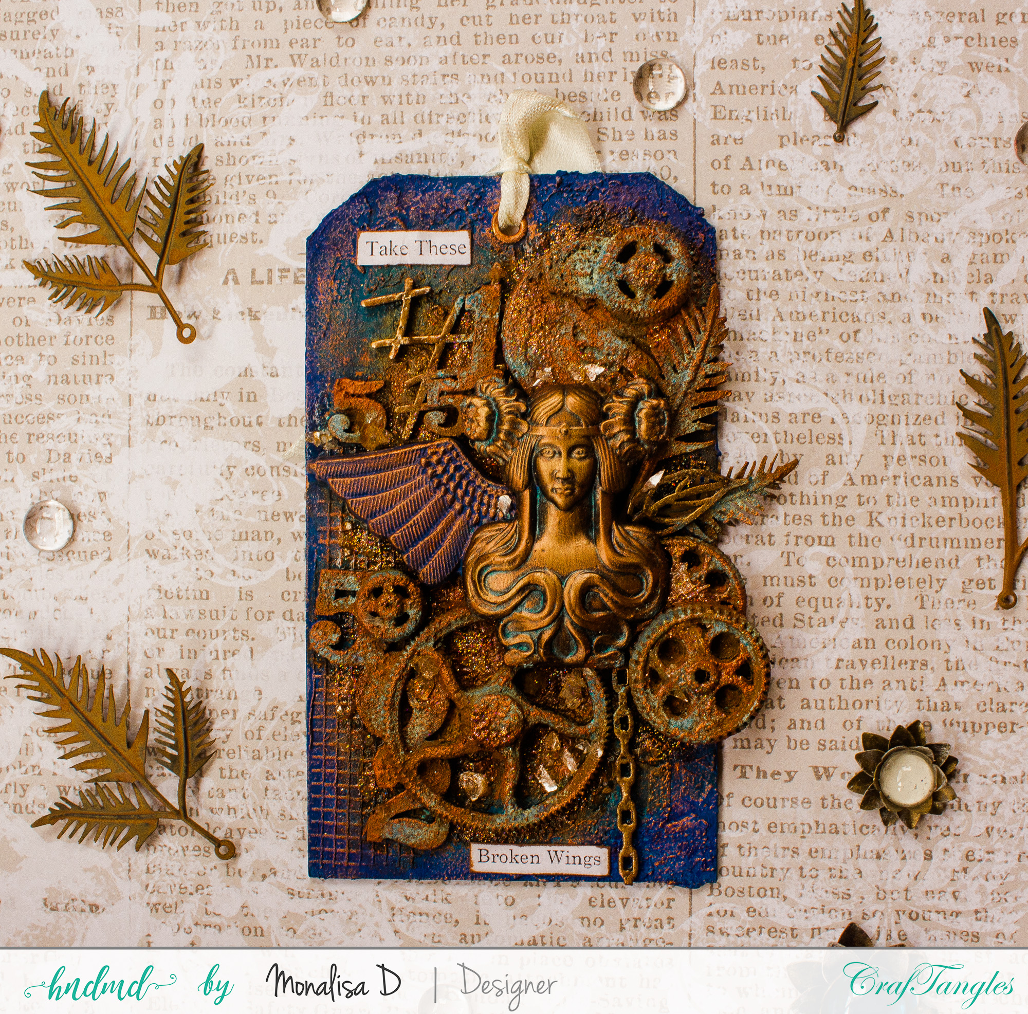 COURAGE – Rust Patina Tags 2