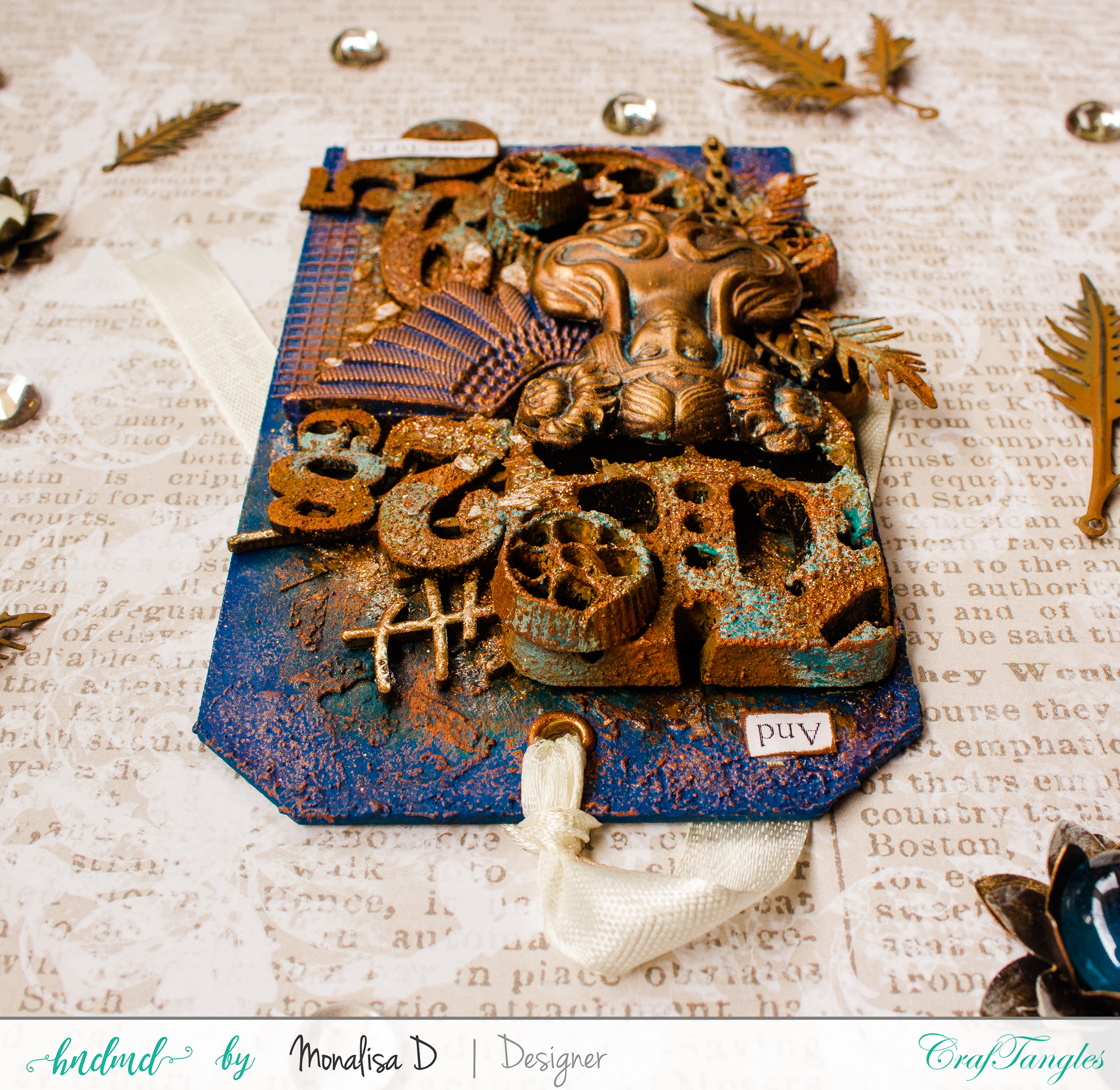 COURAGE – Rust Patina Tags 7