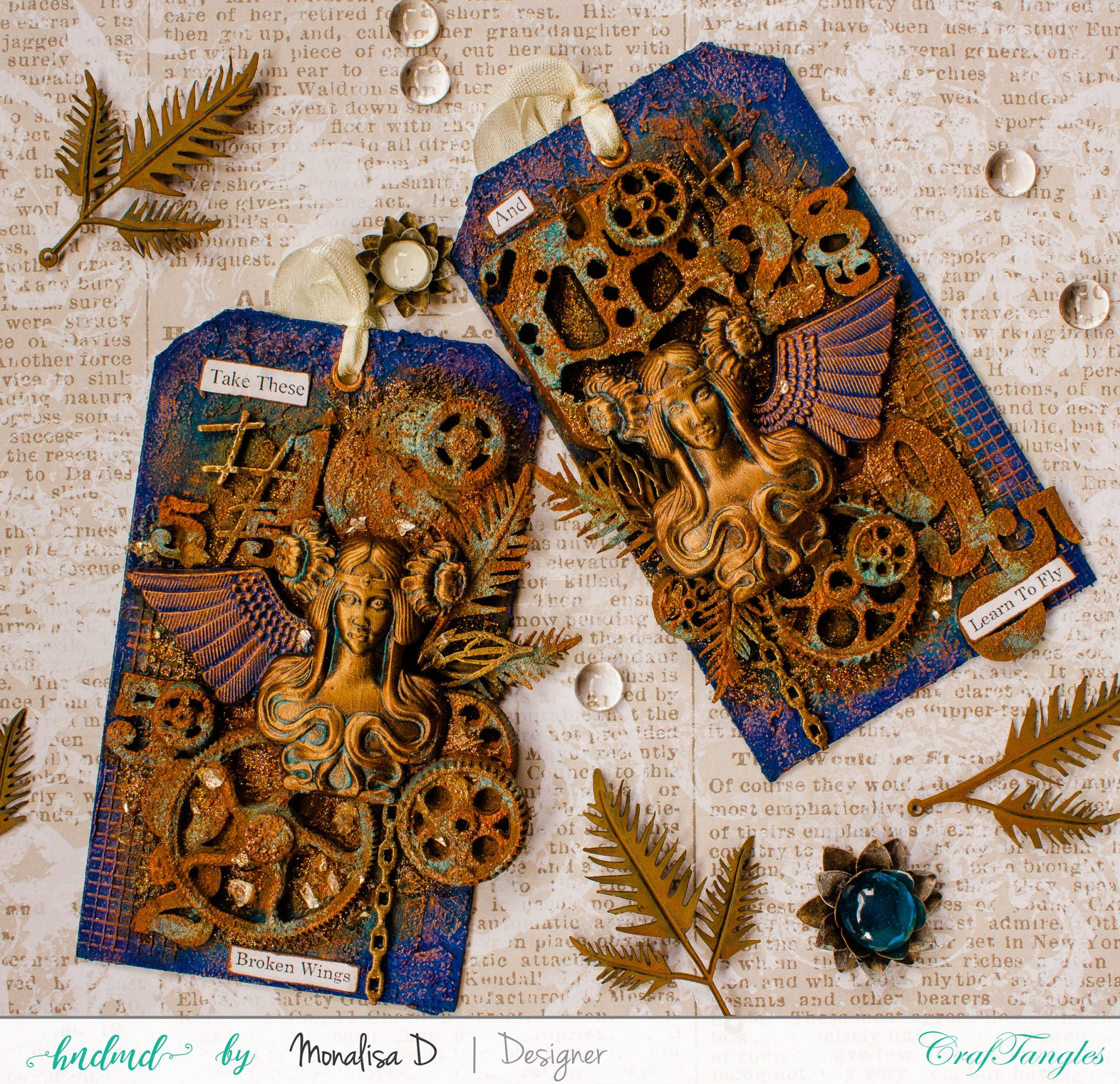 COURAGE – Rust Patina Tags 8