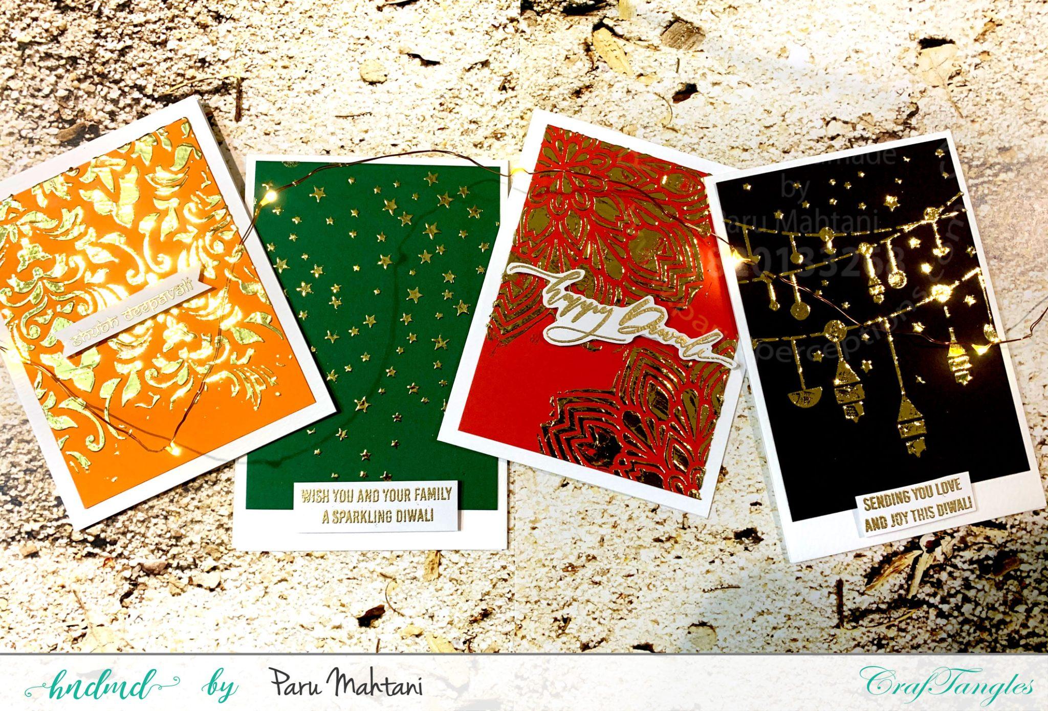 4 Festive Cards Using Reactive Foils 2