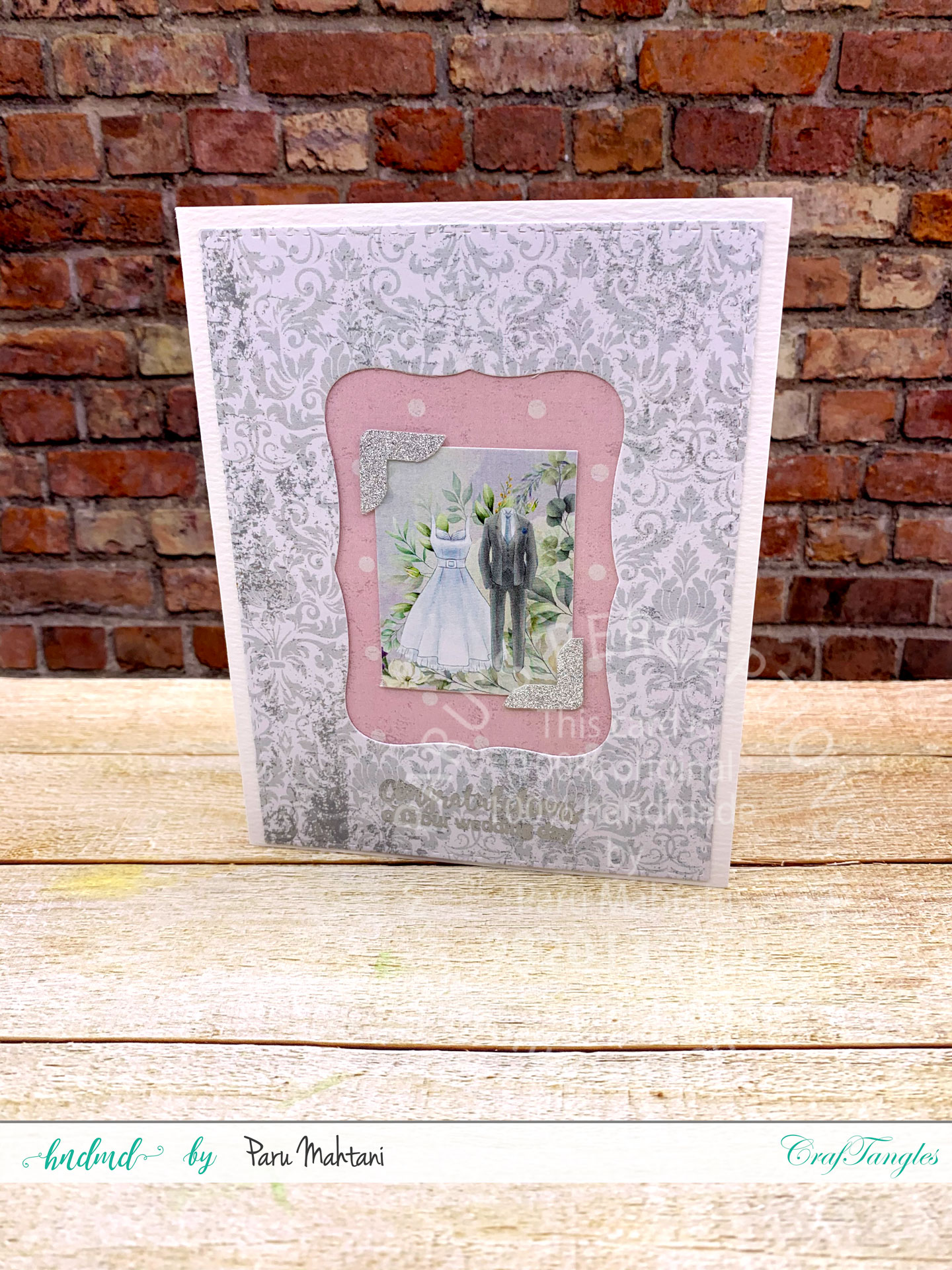 Using wedding themed papers to create beautiful cards. 2