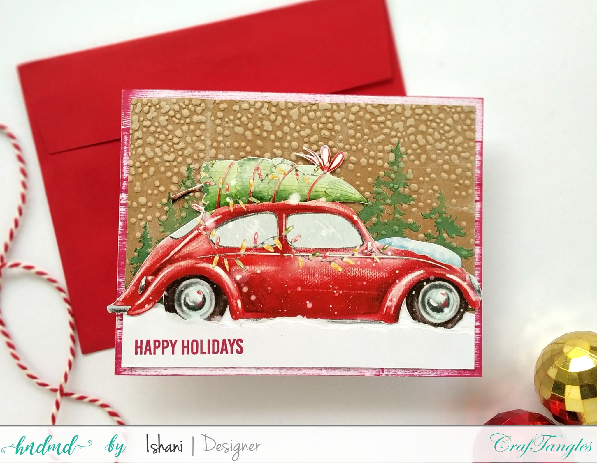 4 Quick Christmas cards with Beautiful Elements Pack 2