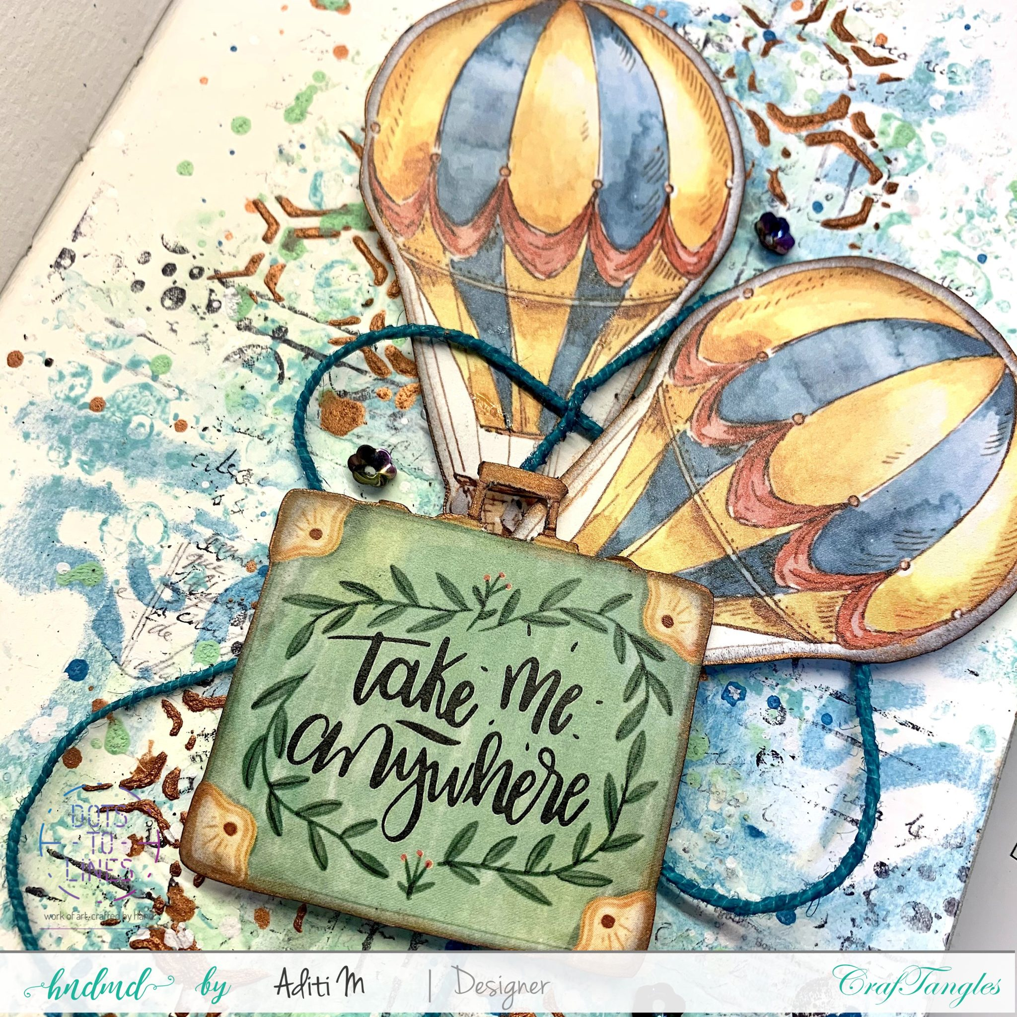 Easy Patina Journal Page - Mixed Media tutorial 1