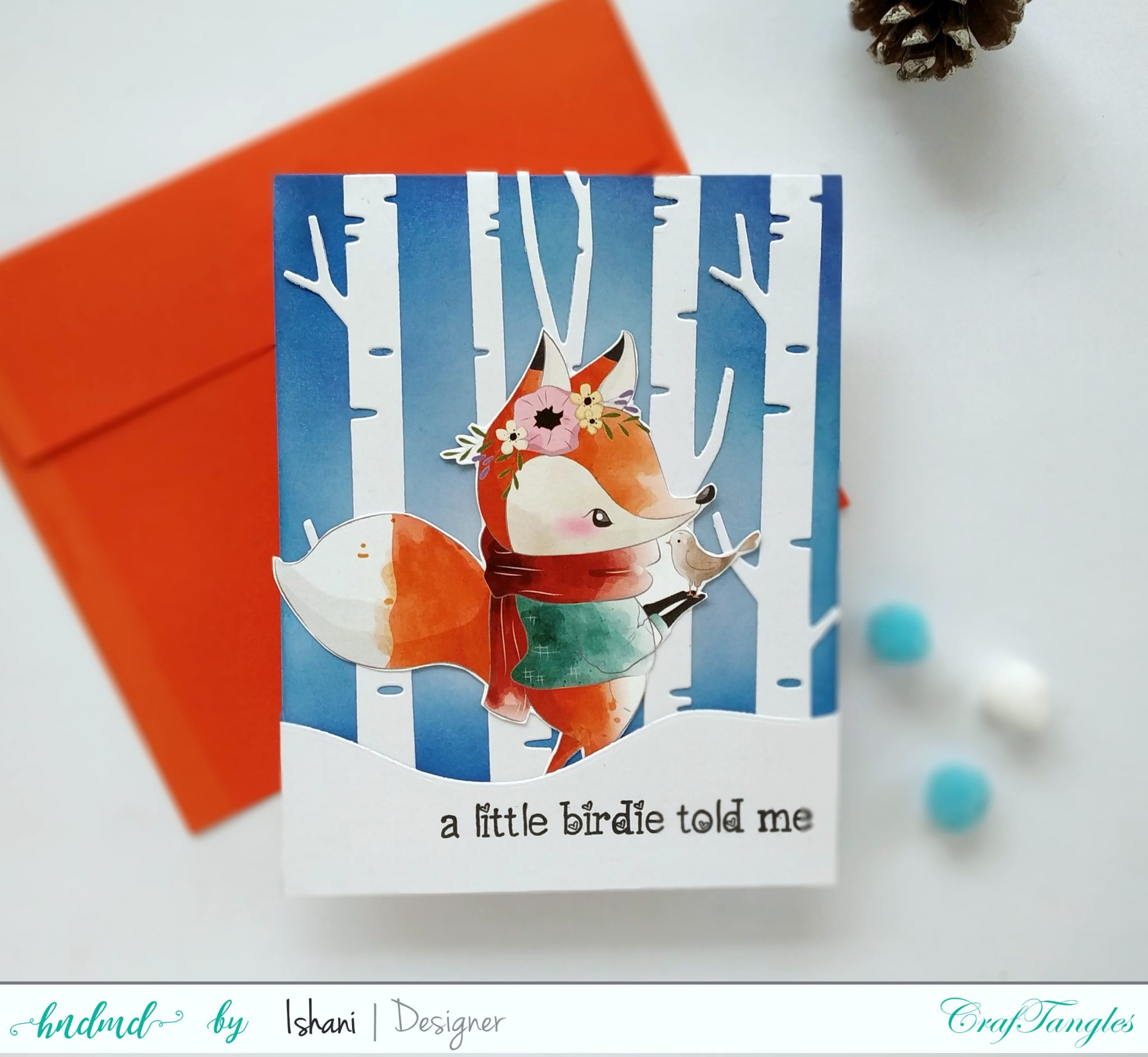 4 Quick Christmas cards with Beautiful Elements Pack 6