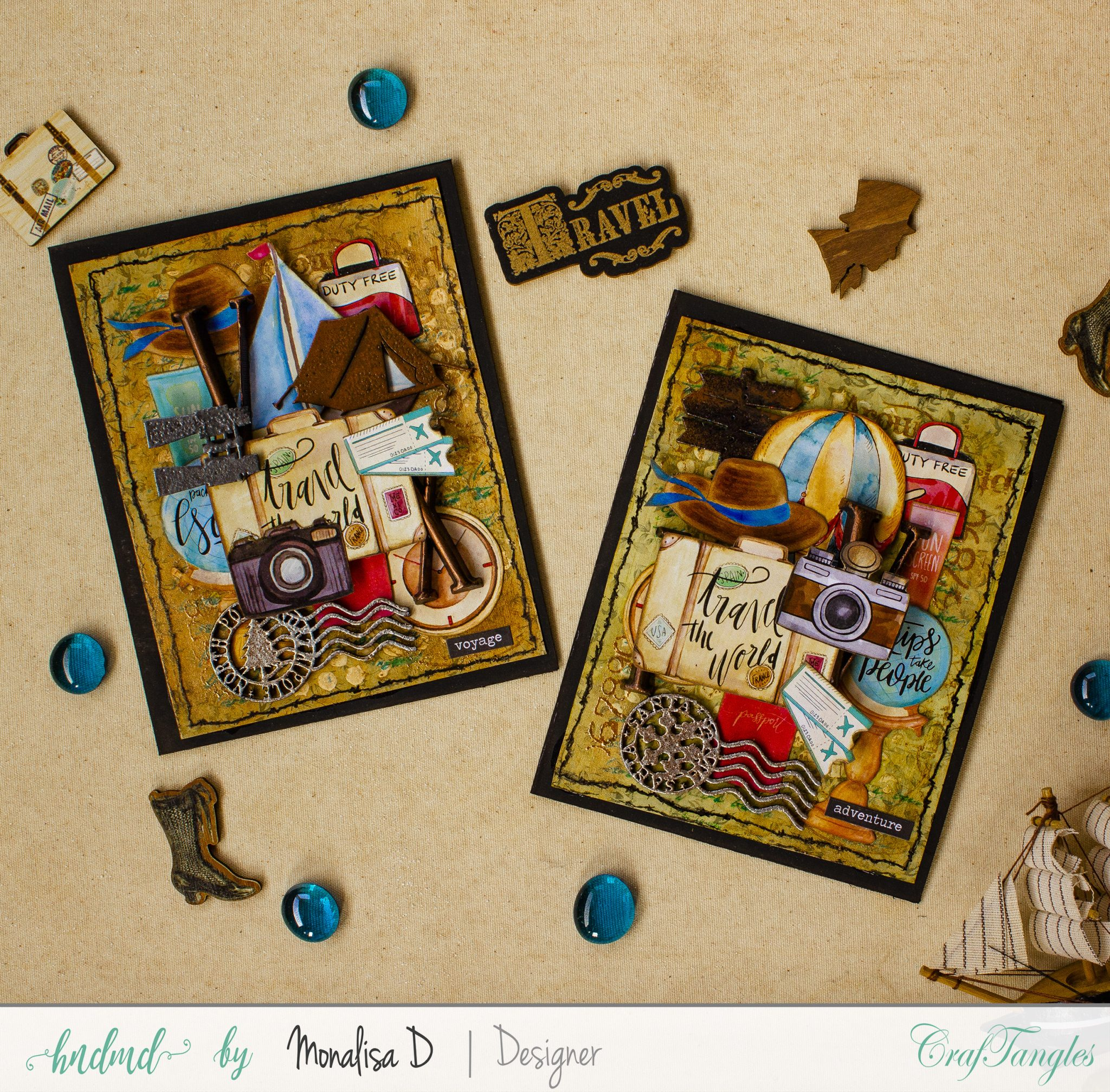 Bon Voyage - Beautiful Mixed Media Cards 5