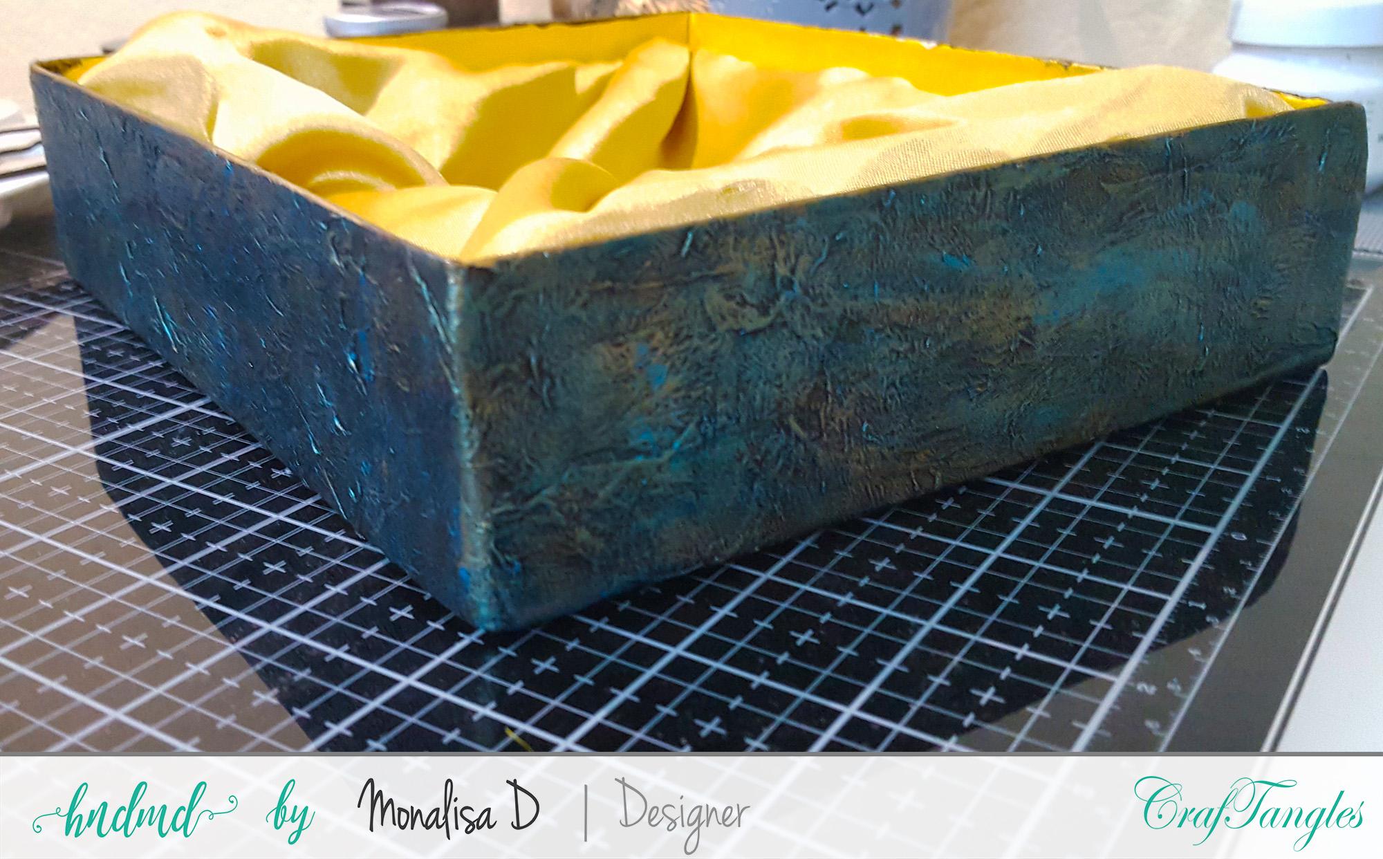 An Upcycled Gift Box - Mixed media tutorial 7