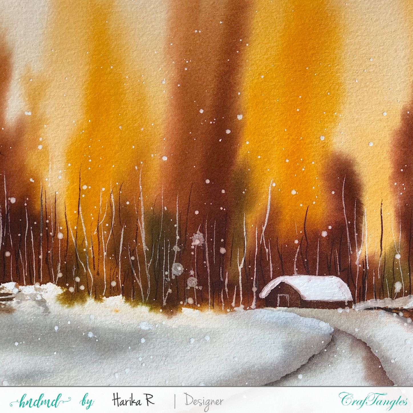 Watercolor Edition - Christmas with a beautiful view 1