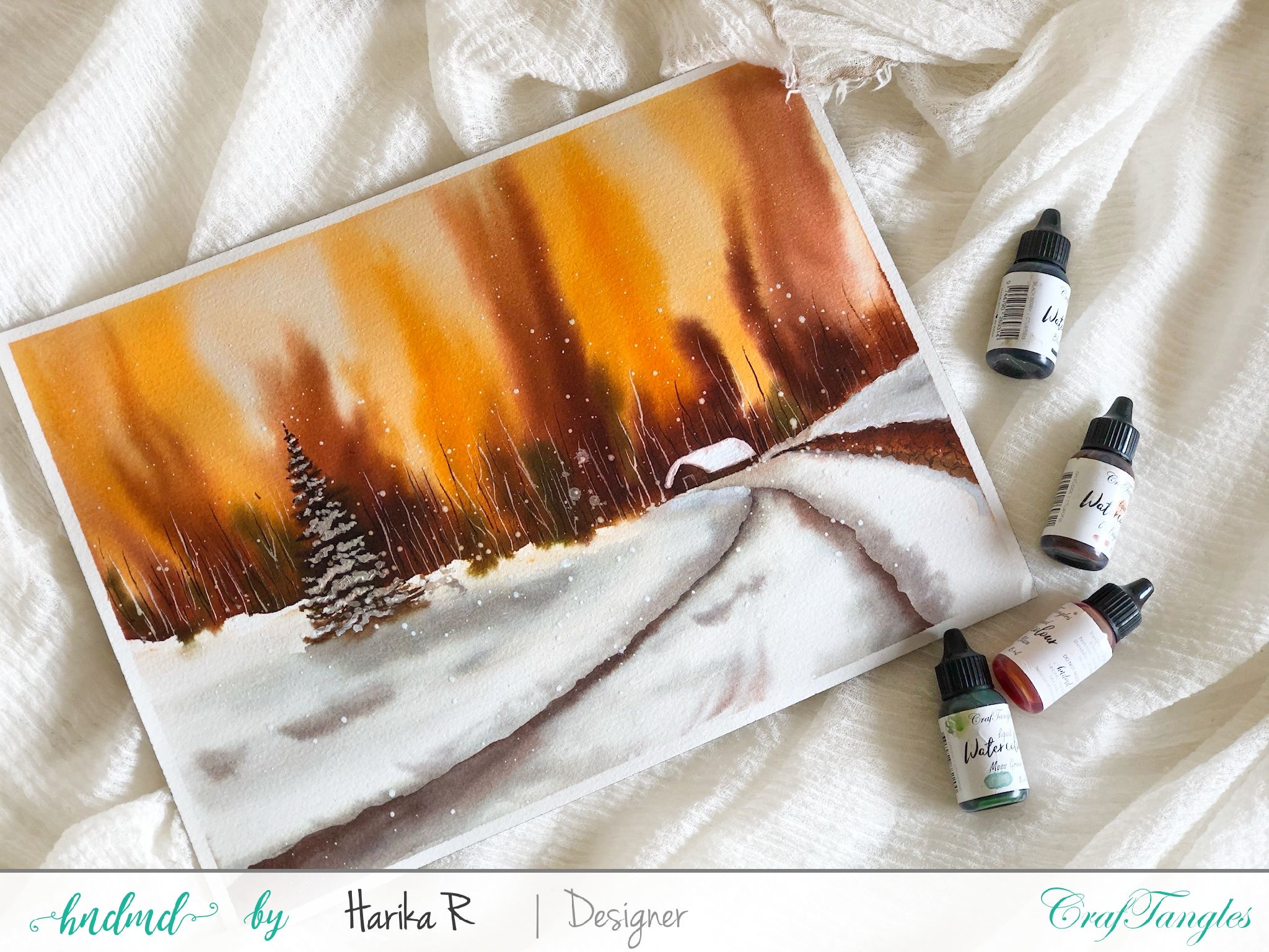 Watercolor Edition - Christmas with a beautiful view 3