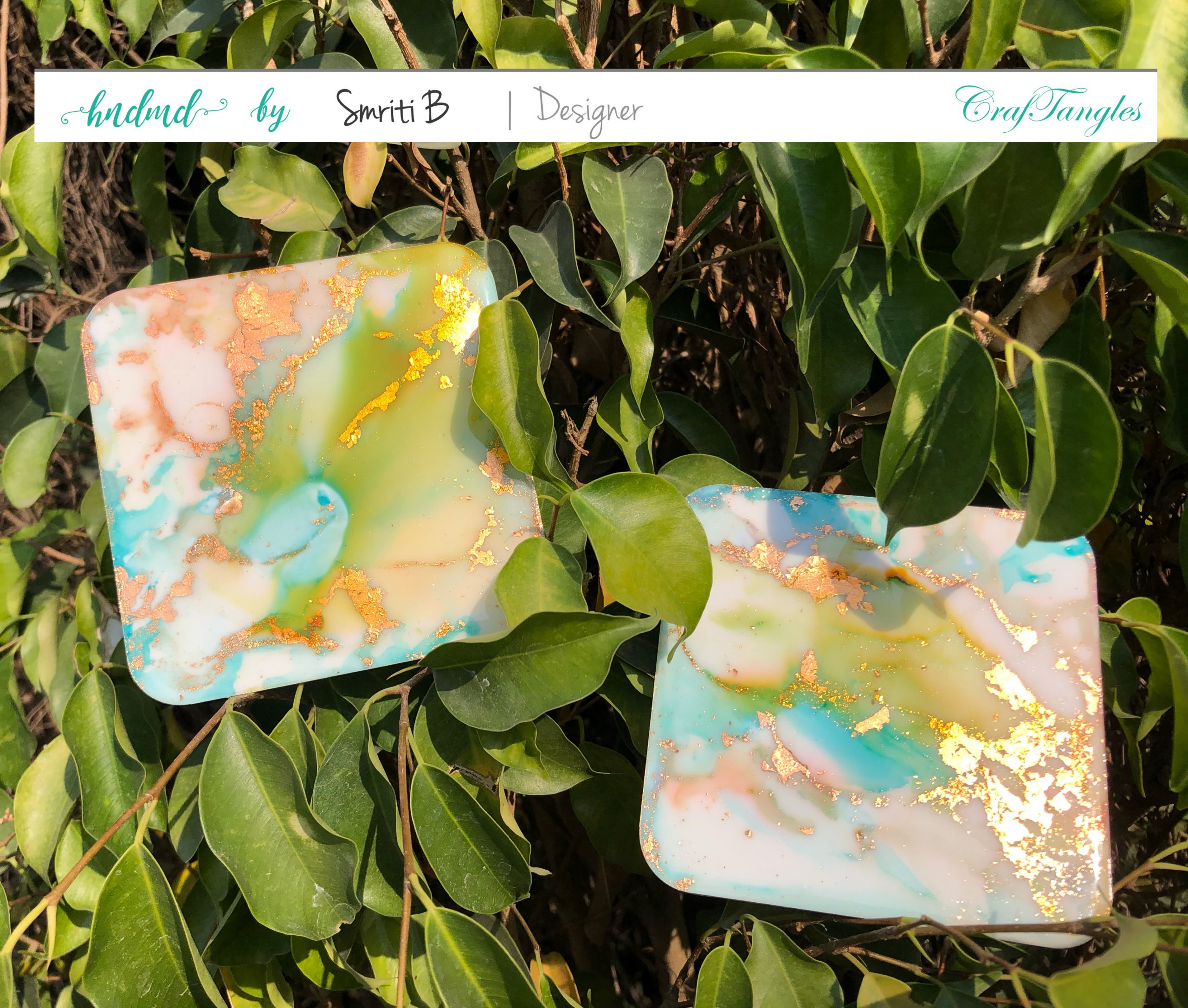Super Gilding alcohol ink coasters 1.0 2