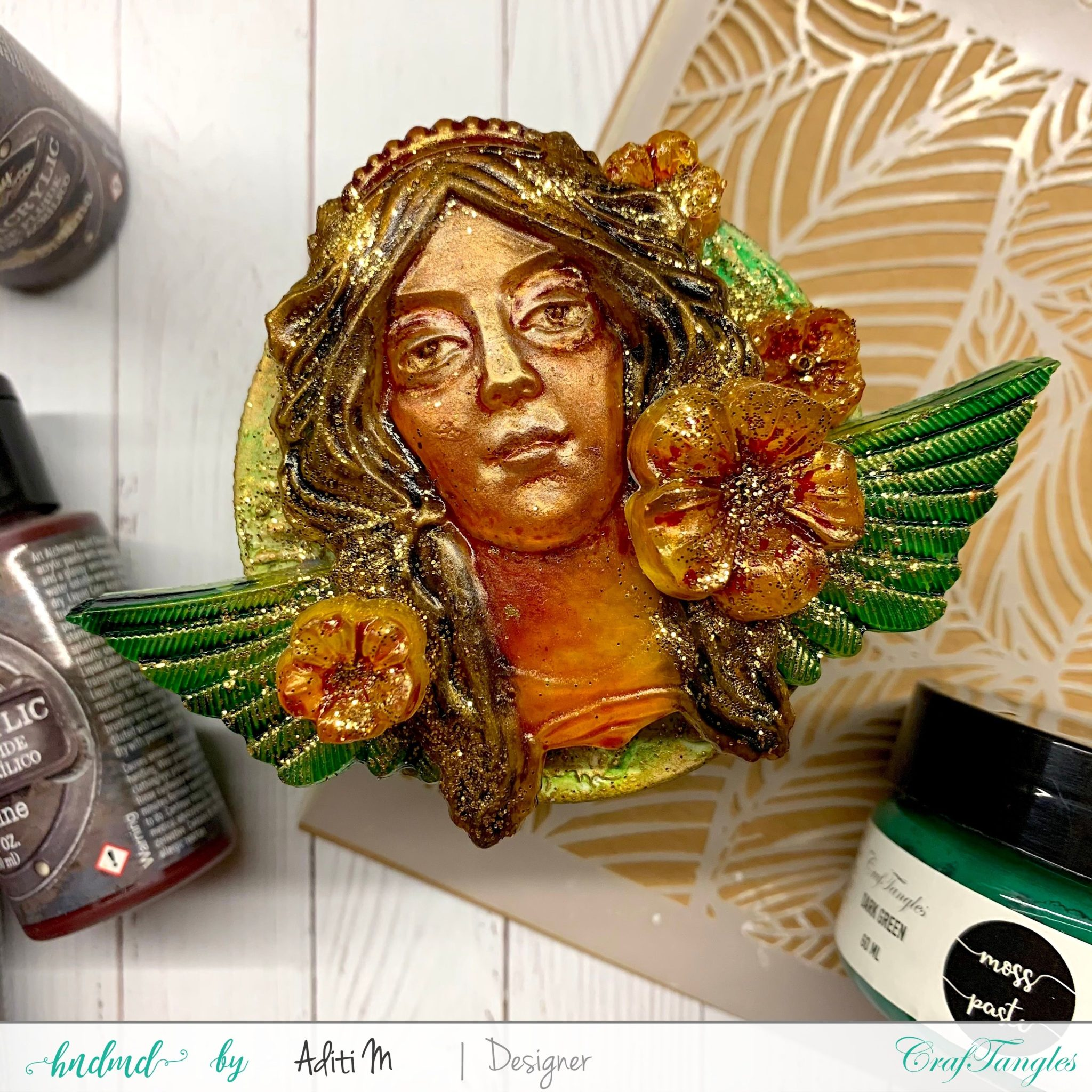 Beautiful Mixed media upcycle project 1