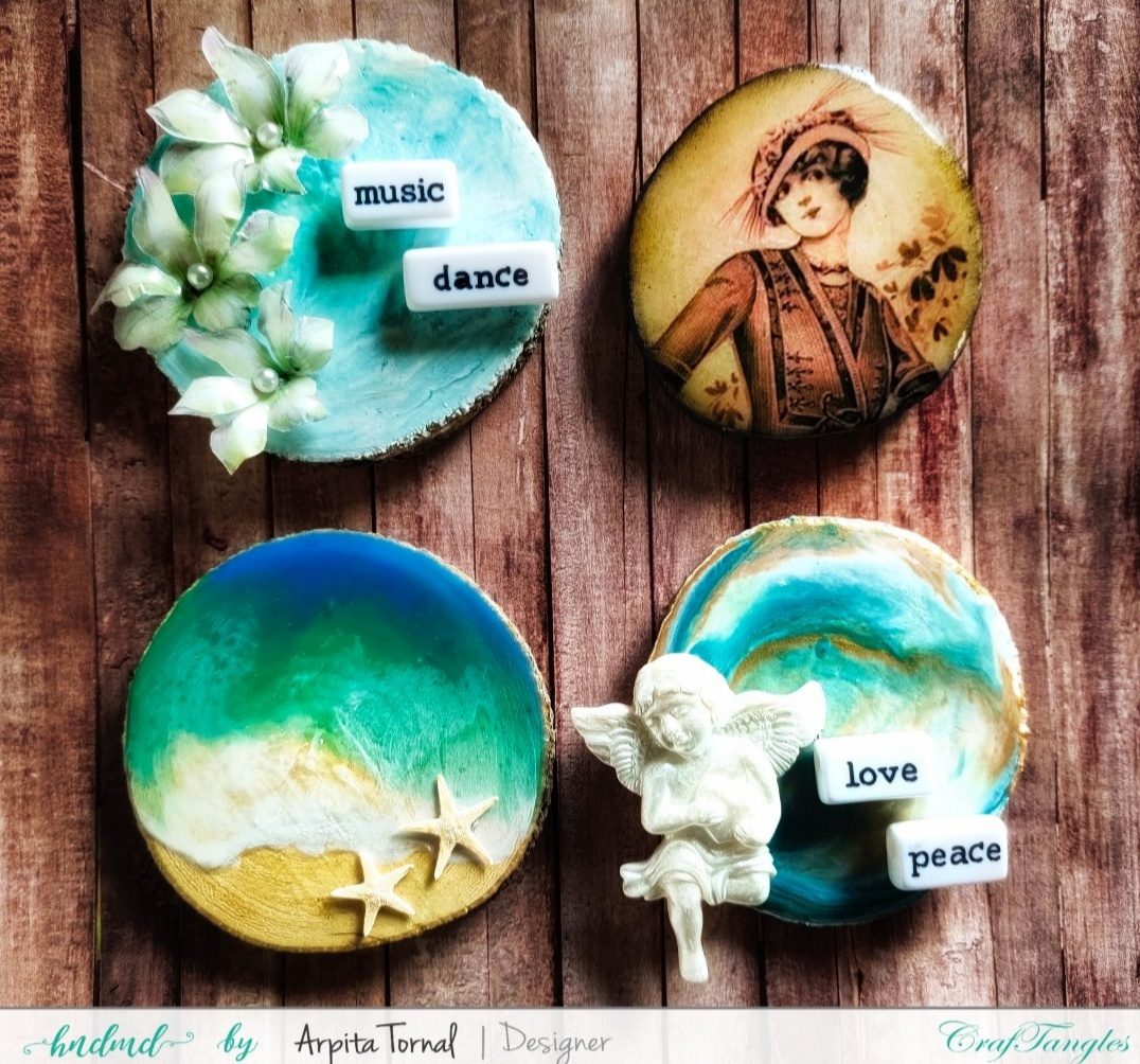 Decoupage Fridge Magnets with Liquid Glaze 1