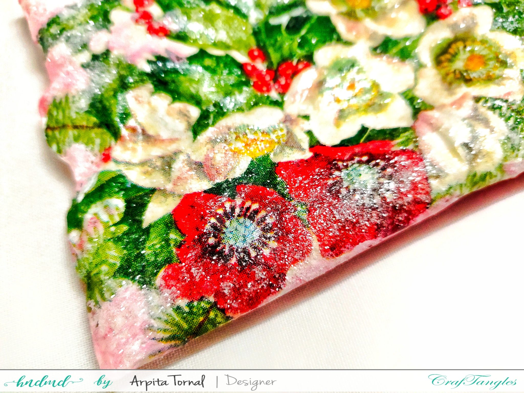 Beautiful Decoupage Pillow Candle Holder 5