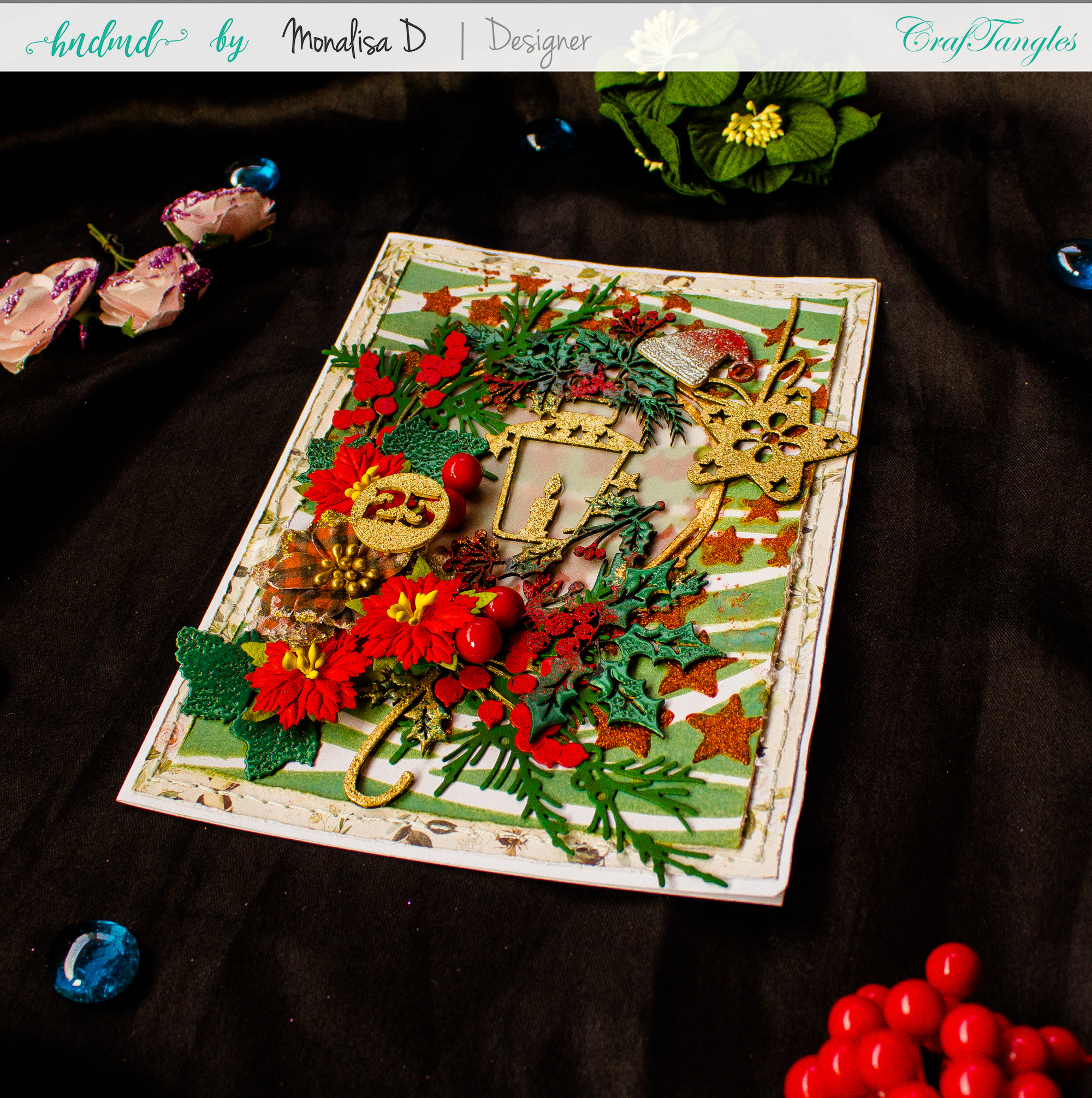 Mixed Media Christmas Card 3