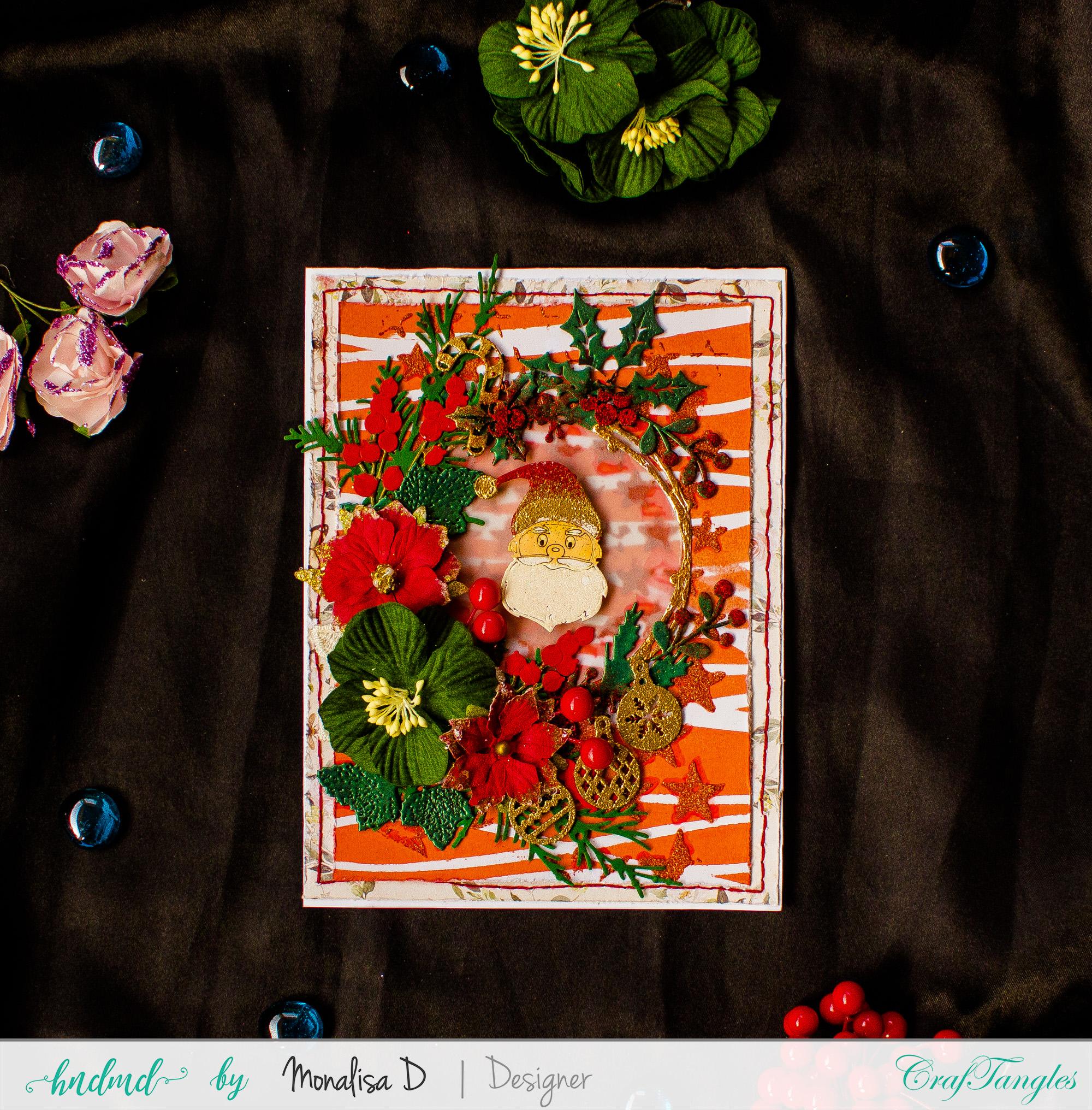 Mixed Media Christmas Card 5