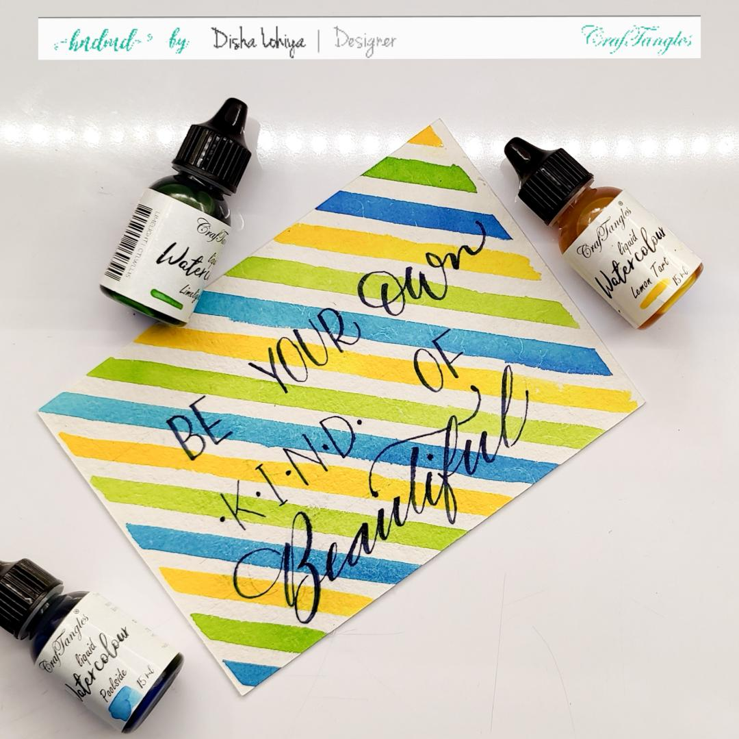 Handmade Postcards - Lettering Tutorial 2