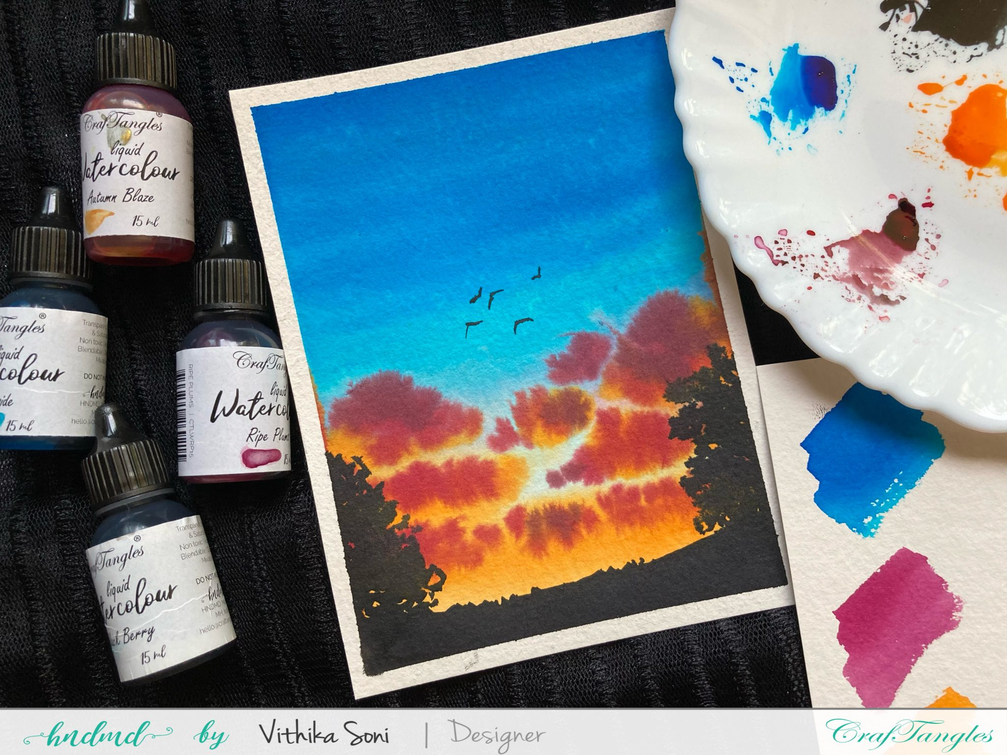 Cloudy sky Watercolor Painting 2