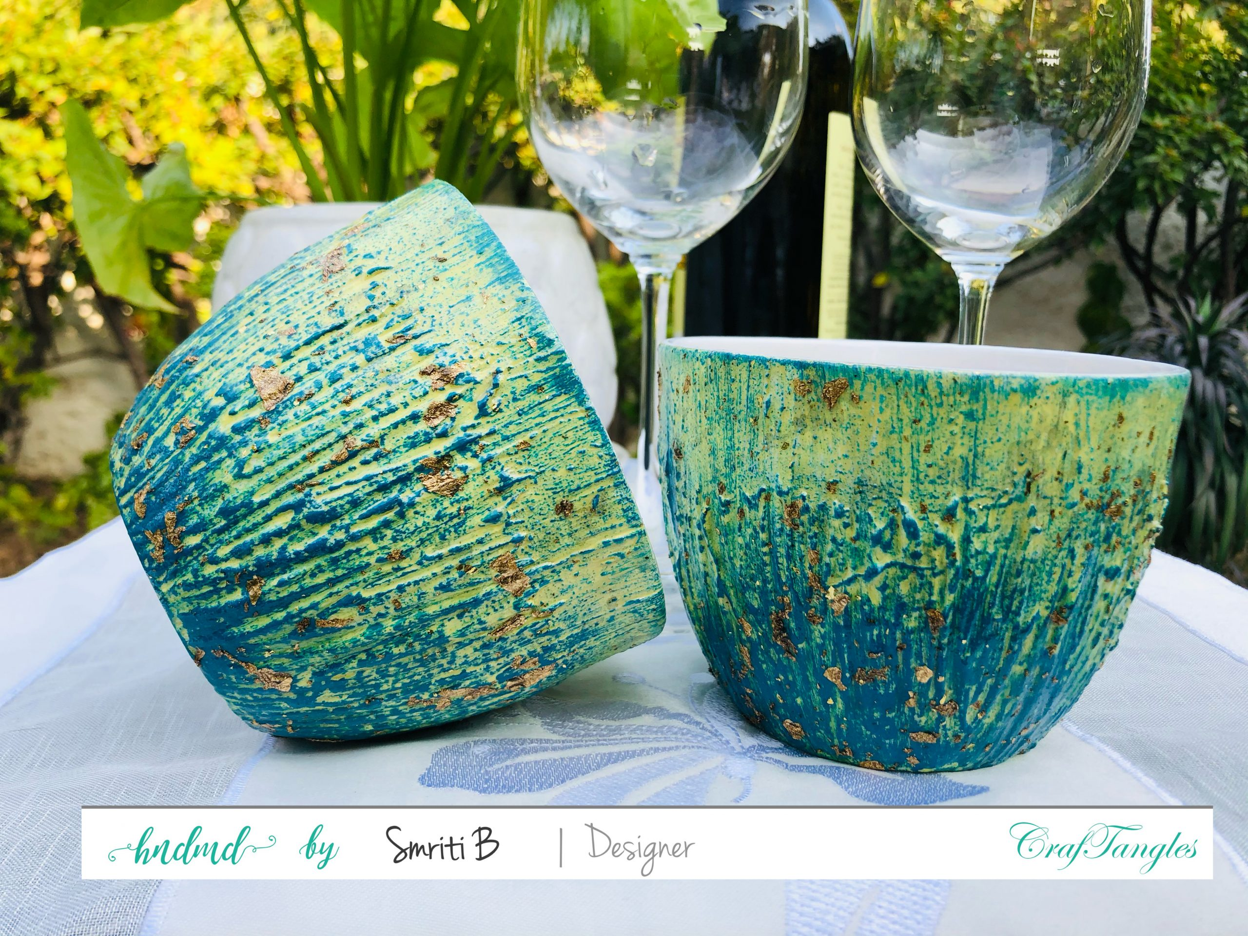 Upcycled Gilded Patina Effect Cups 4