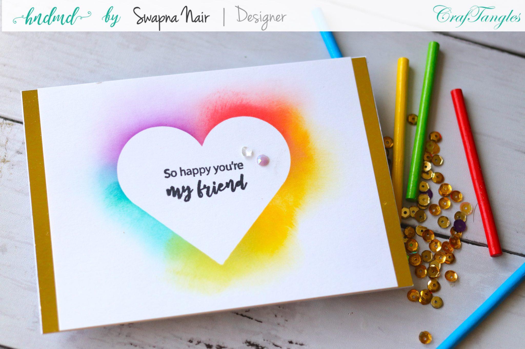 Cardmaking Ideas - 4 Easy Cards using Stencils 4