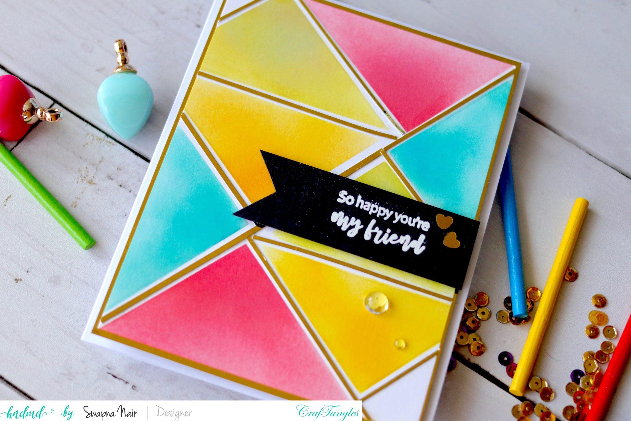 Cardmaking Ideas - 4 Easy Cards using Stencils 2