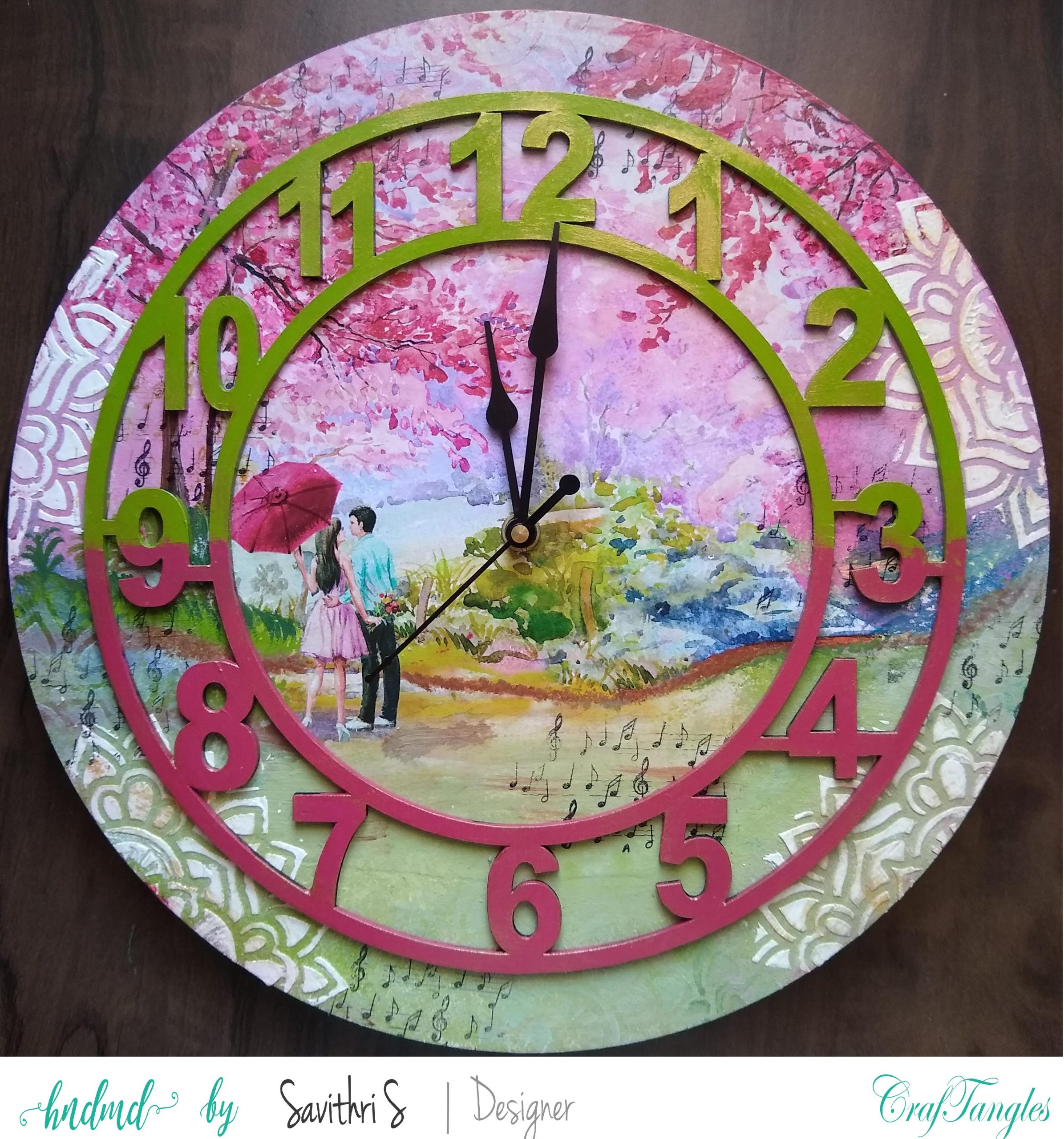 Romantic and Dreamy Decoupage Clock 9