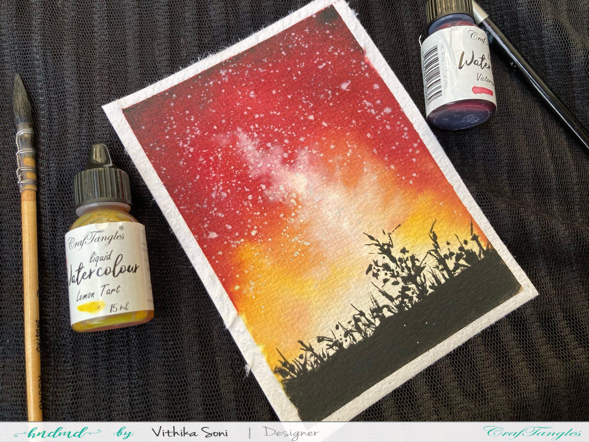 Sun-kissed Silhouette Watercolor Tutorial 1