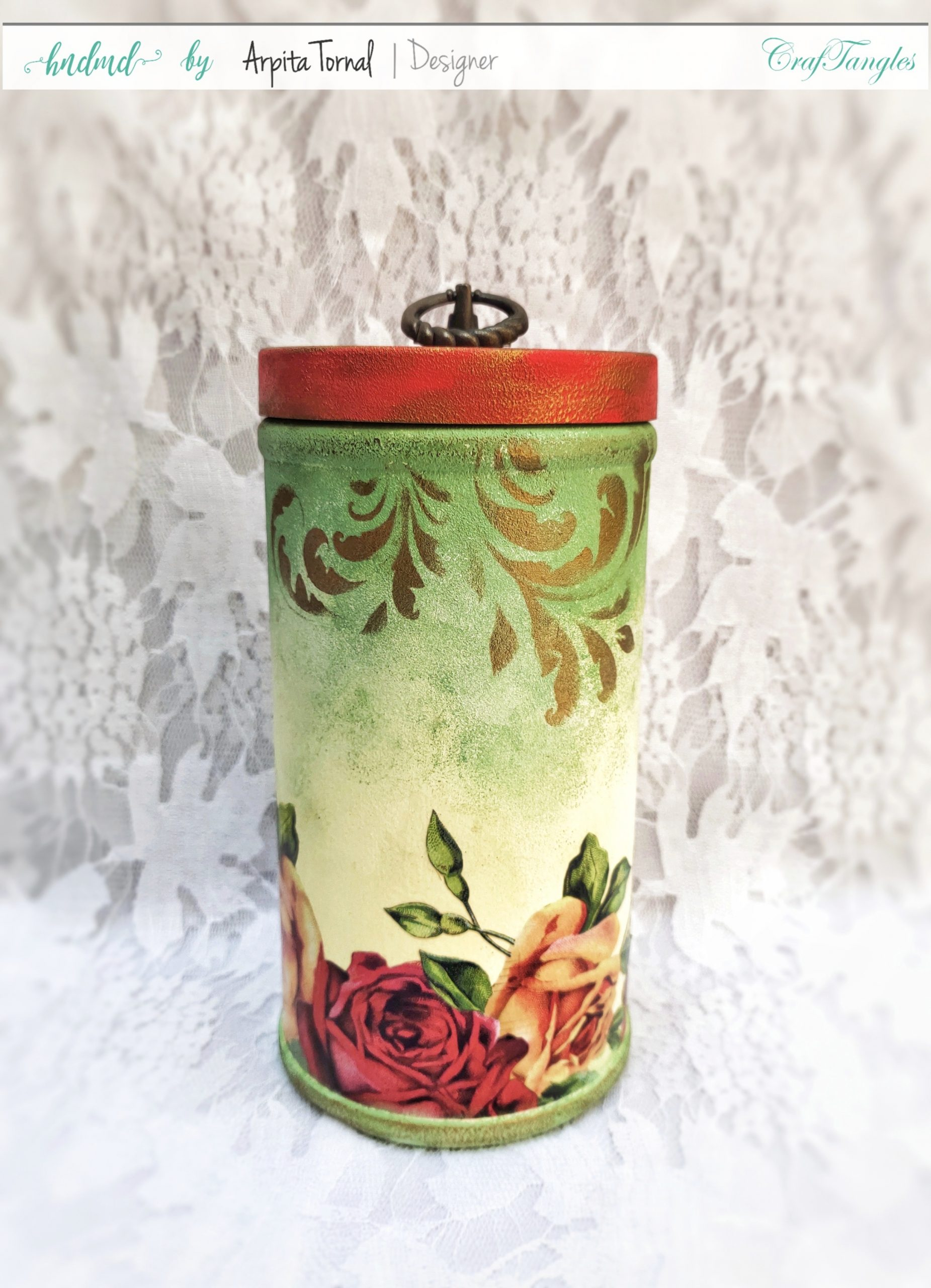 Upcycled Decoupage Plastic Bottle 3