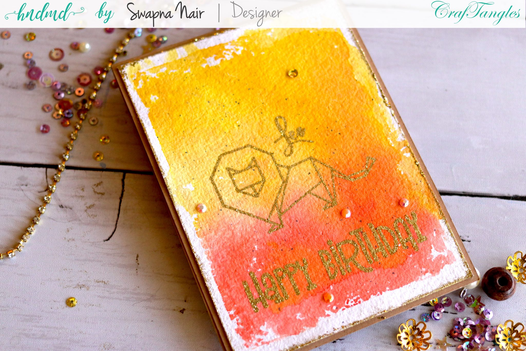 Simple Birthday Cards using Watercolor Paper 1