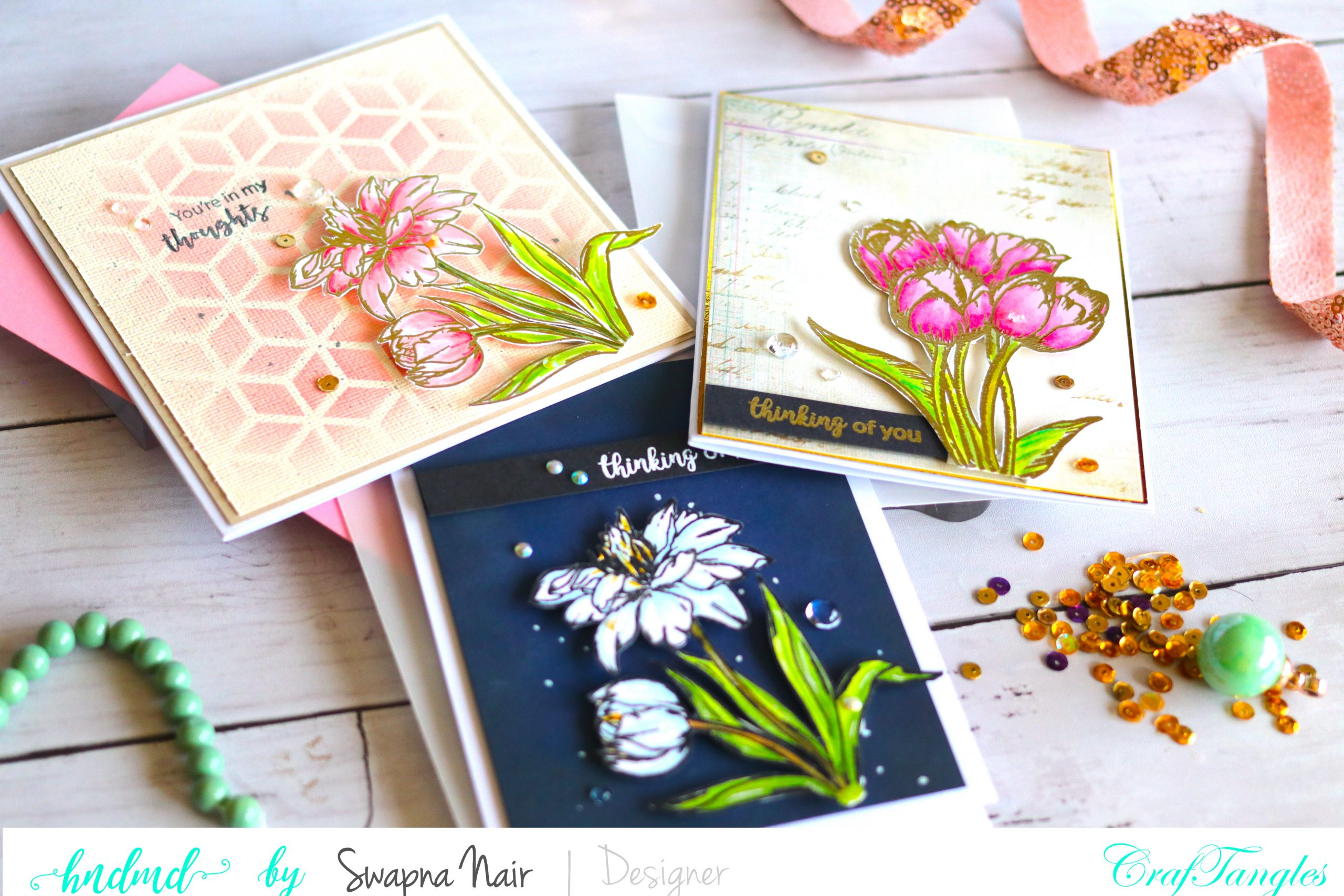 Cardmaking Ideas - Floral cards 1