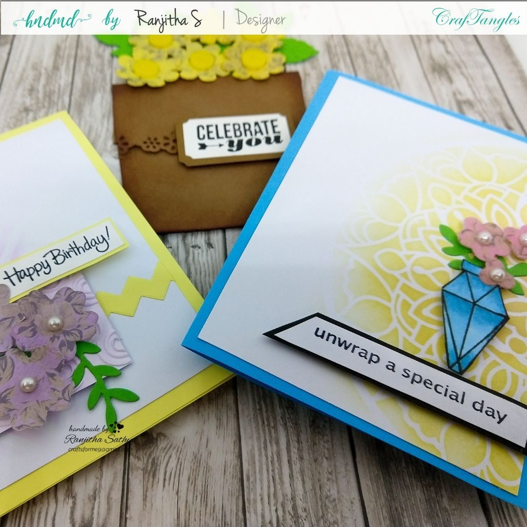 Floral Cards using Pattern Paper 1