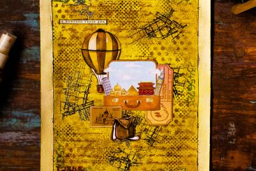 Embark on Voyage - Mixed Media Journal Page 4
