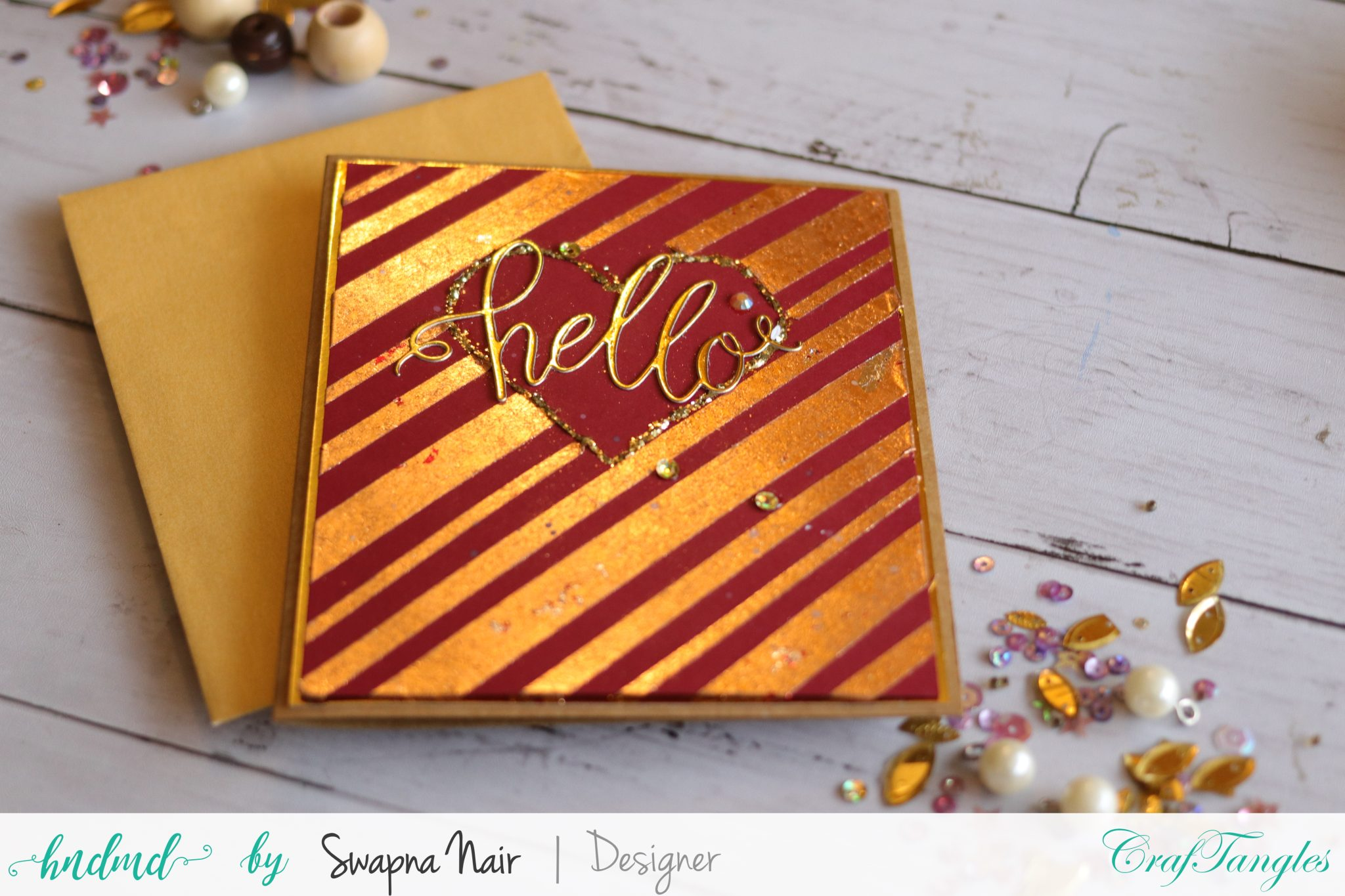 Simple Cards with Foils and Gilding Flakes 3