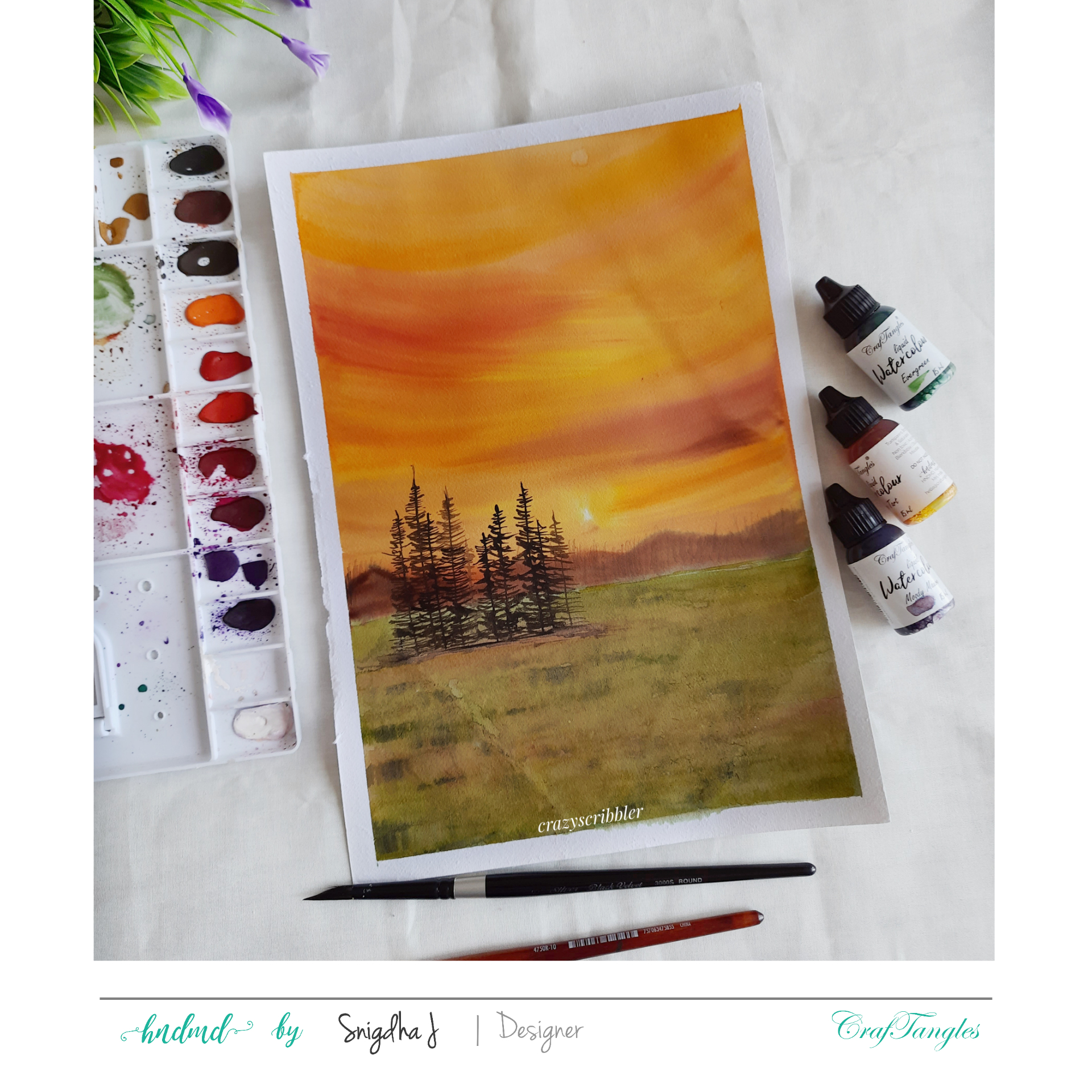 Watercolor Desert Landscape 6