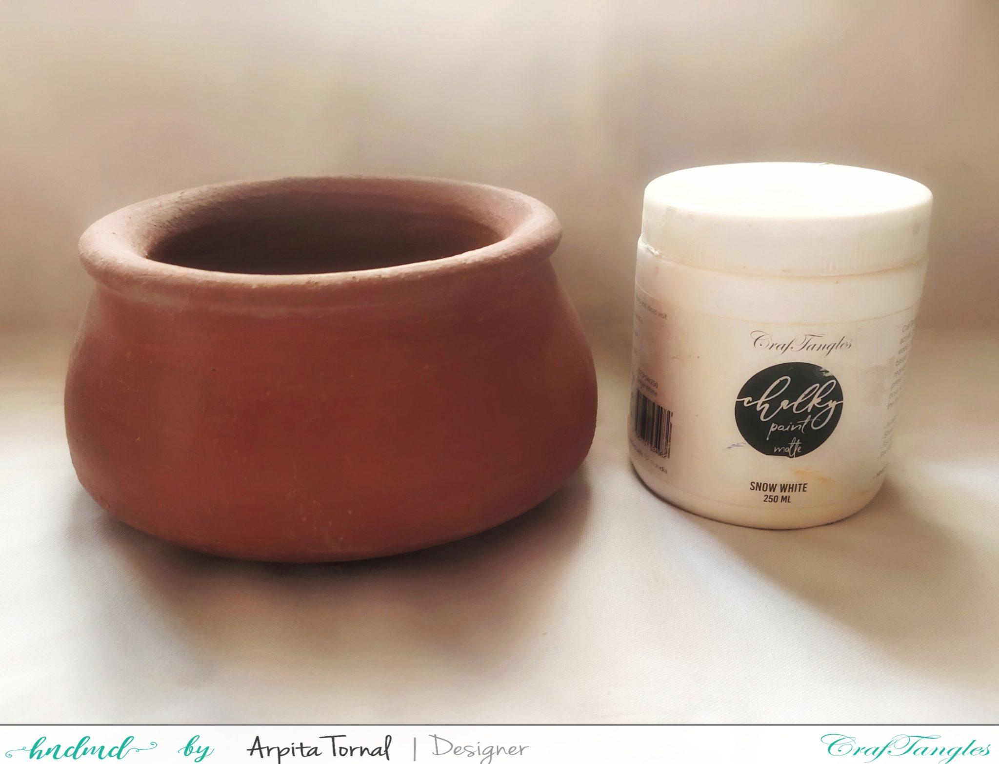 Decoupage on Terracotta Pot 2