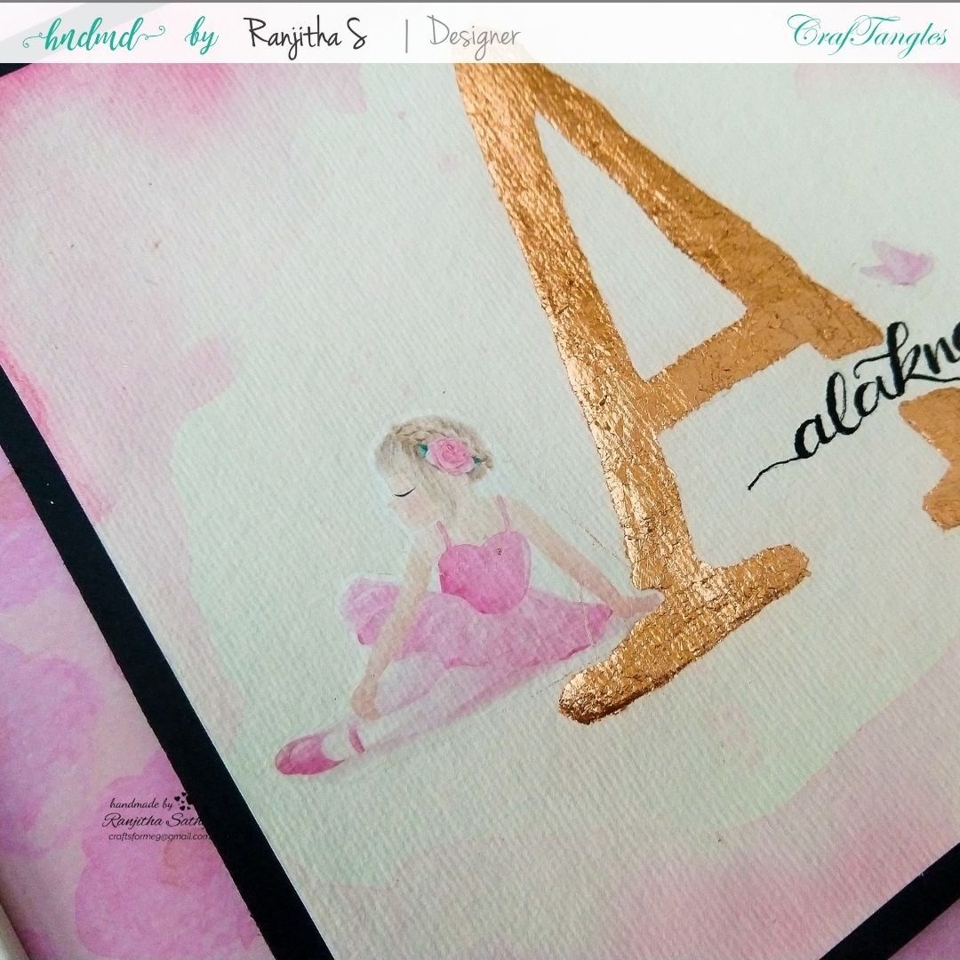 Monogram Frame using gilding flakes and transfer it sheets 2