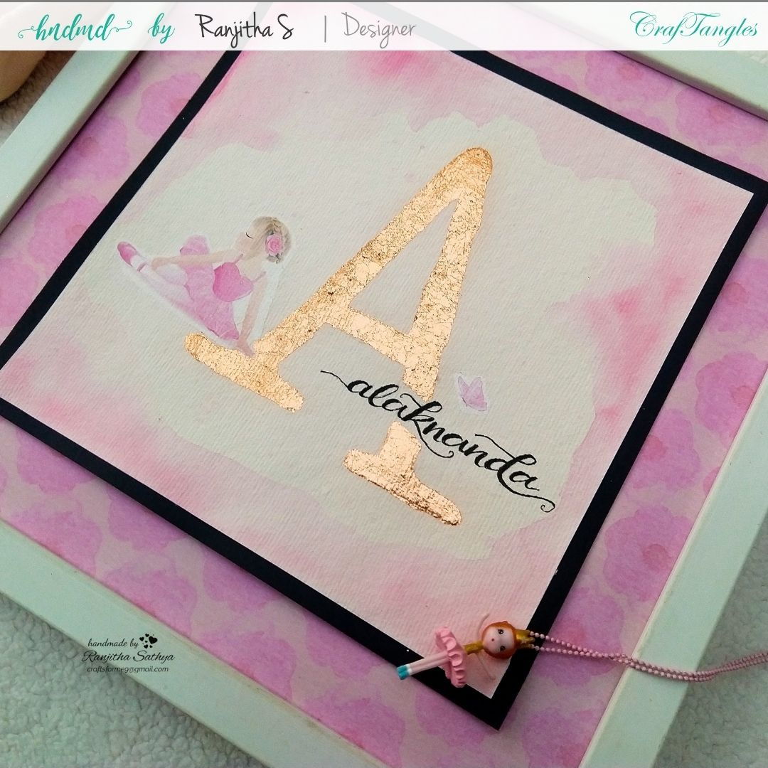 Monogram Frame using gilding flakes and transfer it sheets 4