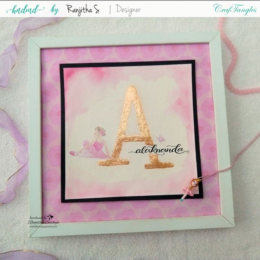 Monogram Frame using gilding flakes and transfer it sheets 5