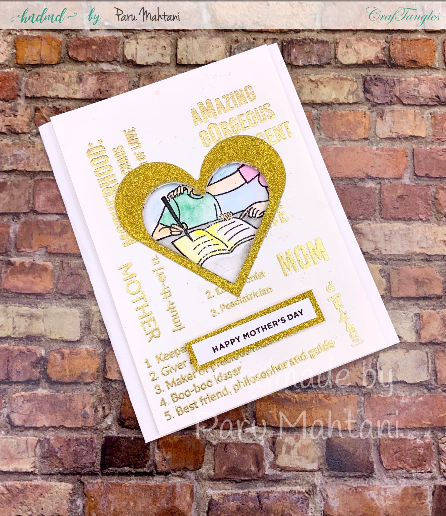 Beautiful Stamped cards perfect for Mom and Dad 3