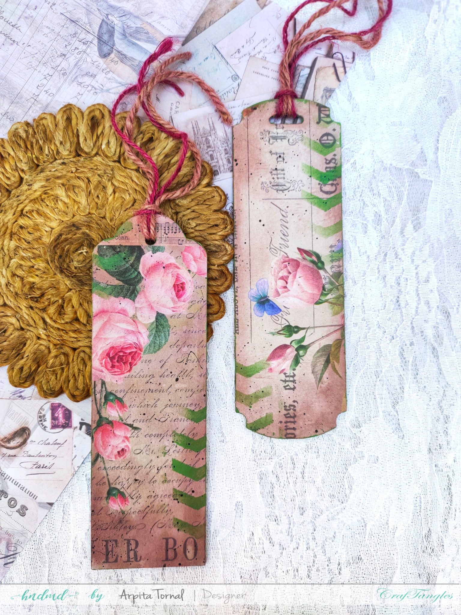Decoupage Tags using Deco-thin paper 3