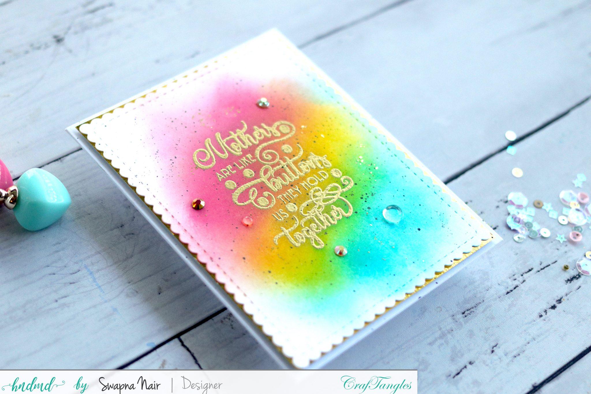 3 Beautiful Simple Rainbow Cards 4