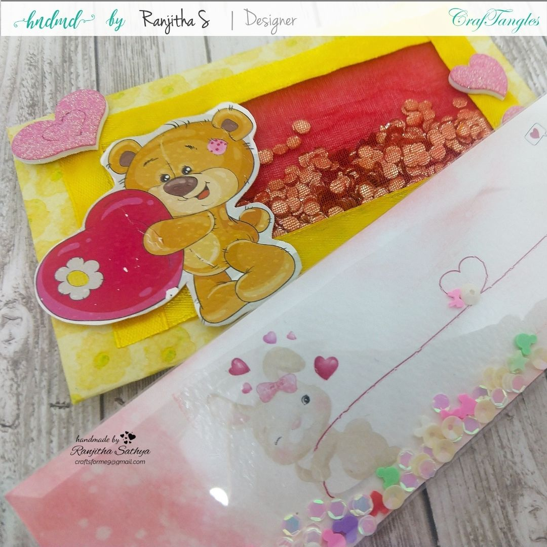 Beautiful Shaker Bookmark and envelope in a different style 2