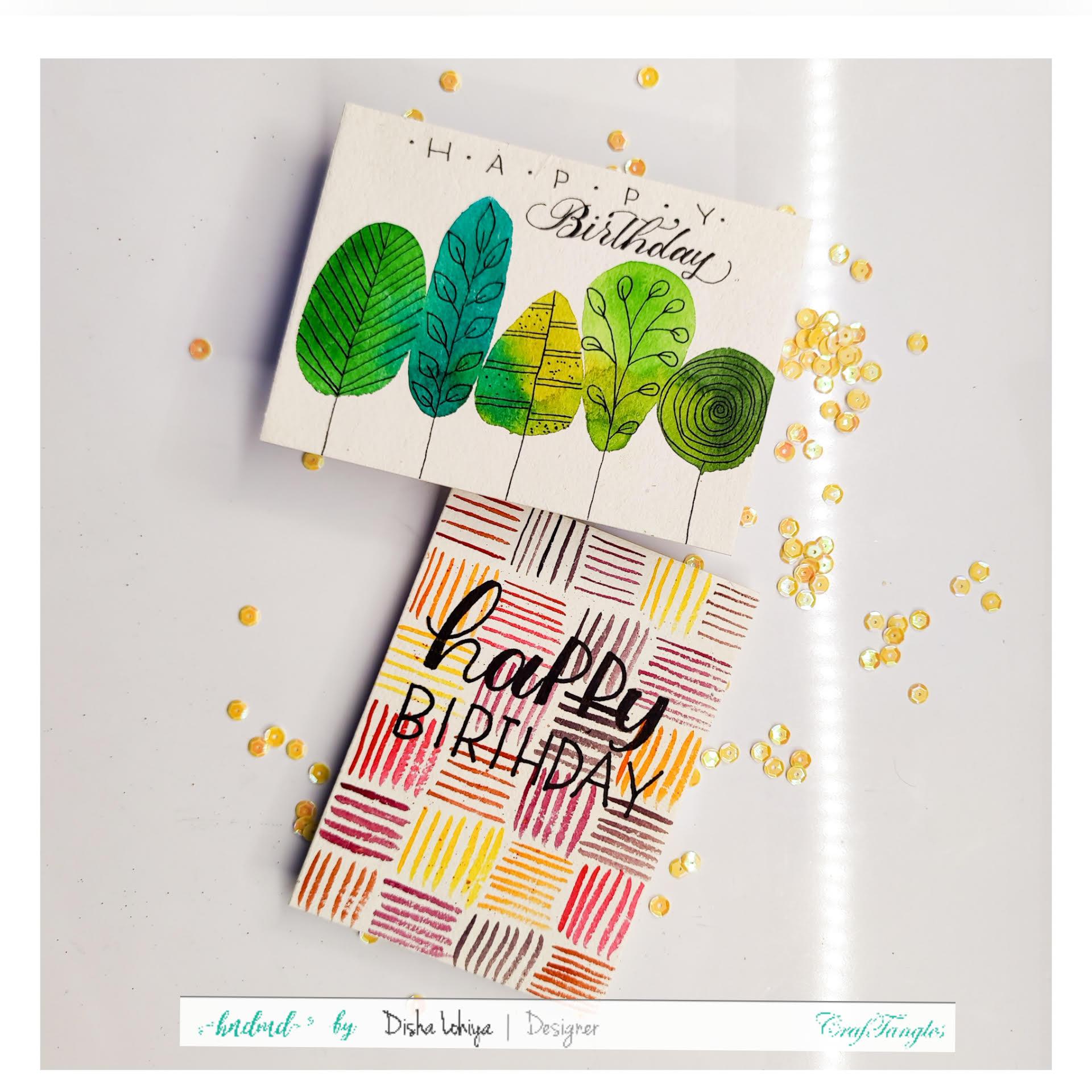 2 Happy Birthday Notecards