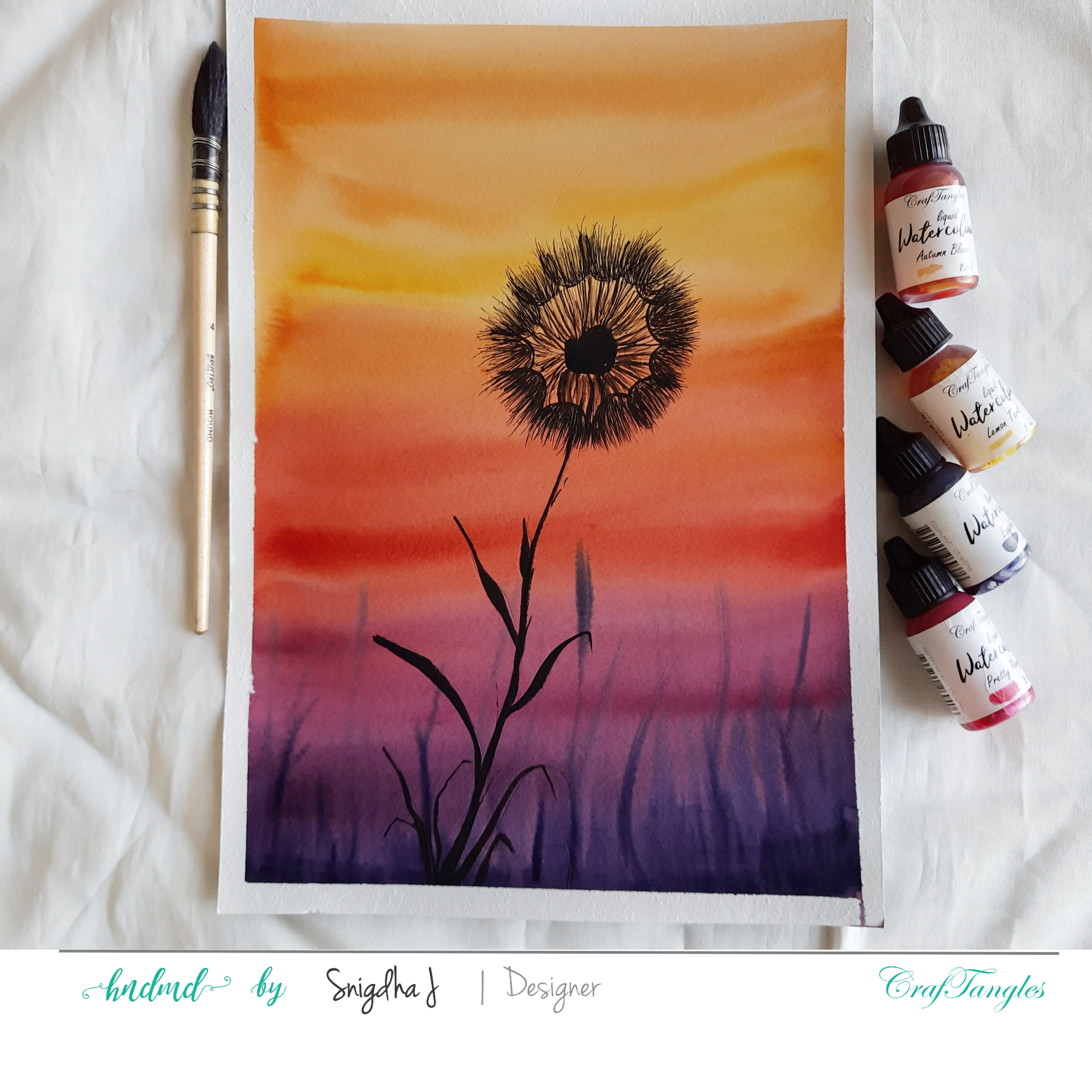 Silhouette Watercolour Painting