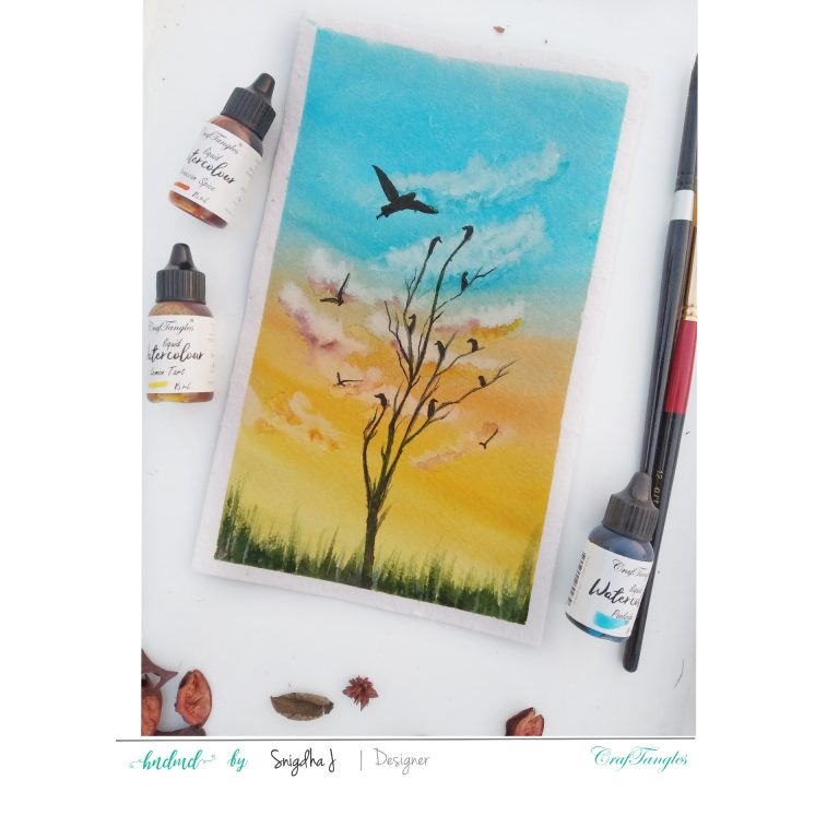 Scenery Watercolour Painting