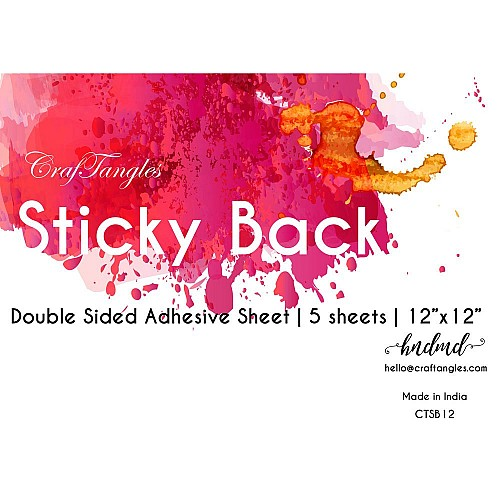 CrafTangles Sticky Back - 12x12 double sided adhesive sheet