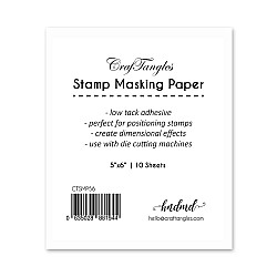 CrafTangles Stamping Masking Sheets (Pack of 10) - 5by6 inch