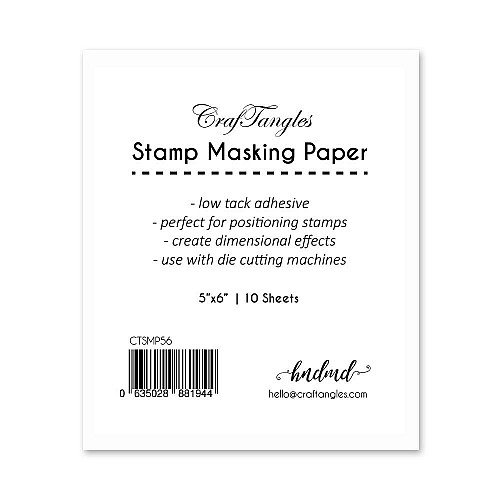 CrafTangles Stamping Masking Sheets / masking paper (Pack of 10) - 5by6 inch