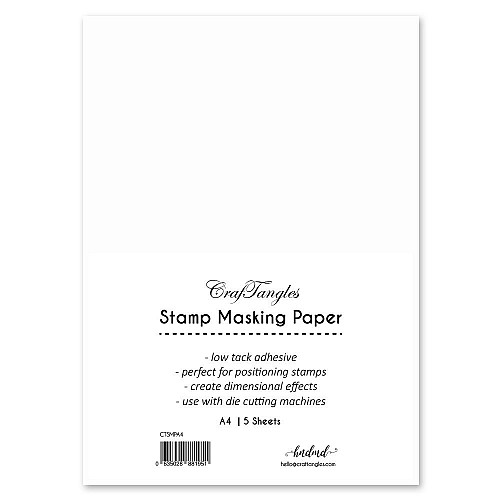 CrafTangles Stamping Masking Sheets / masking paper (Pack of 10) - A4