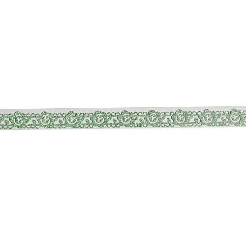 Decorative Glitter Tape - Flowers and Vines (Green)