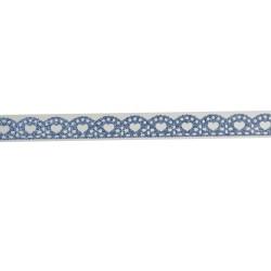 Decorative Glitter Tape - Hearts (Blue)