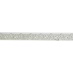 Decorative Glitter Tape - Flowers and Vines (Silver)
